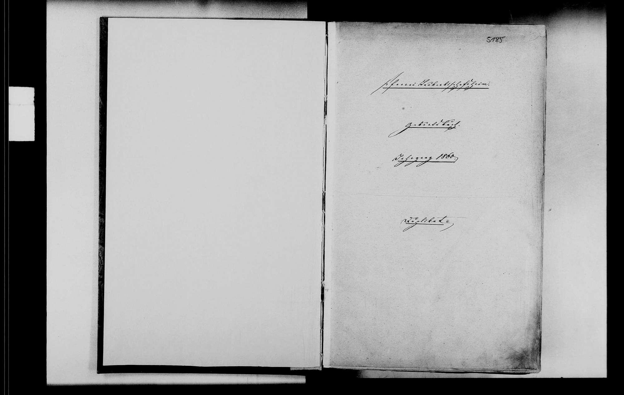 Tauberbischofsheim, katholische Gemeinde: Standesbuch 1860-1870, Bild 2
