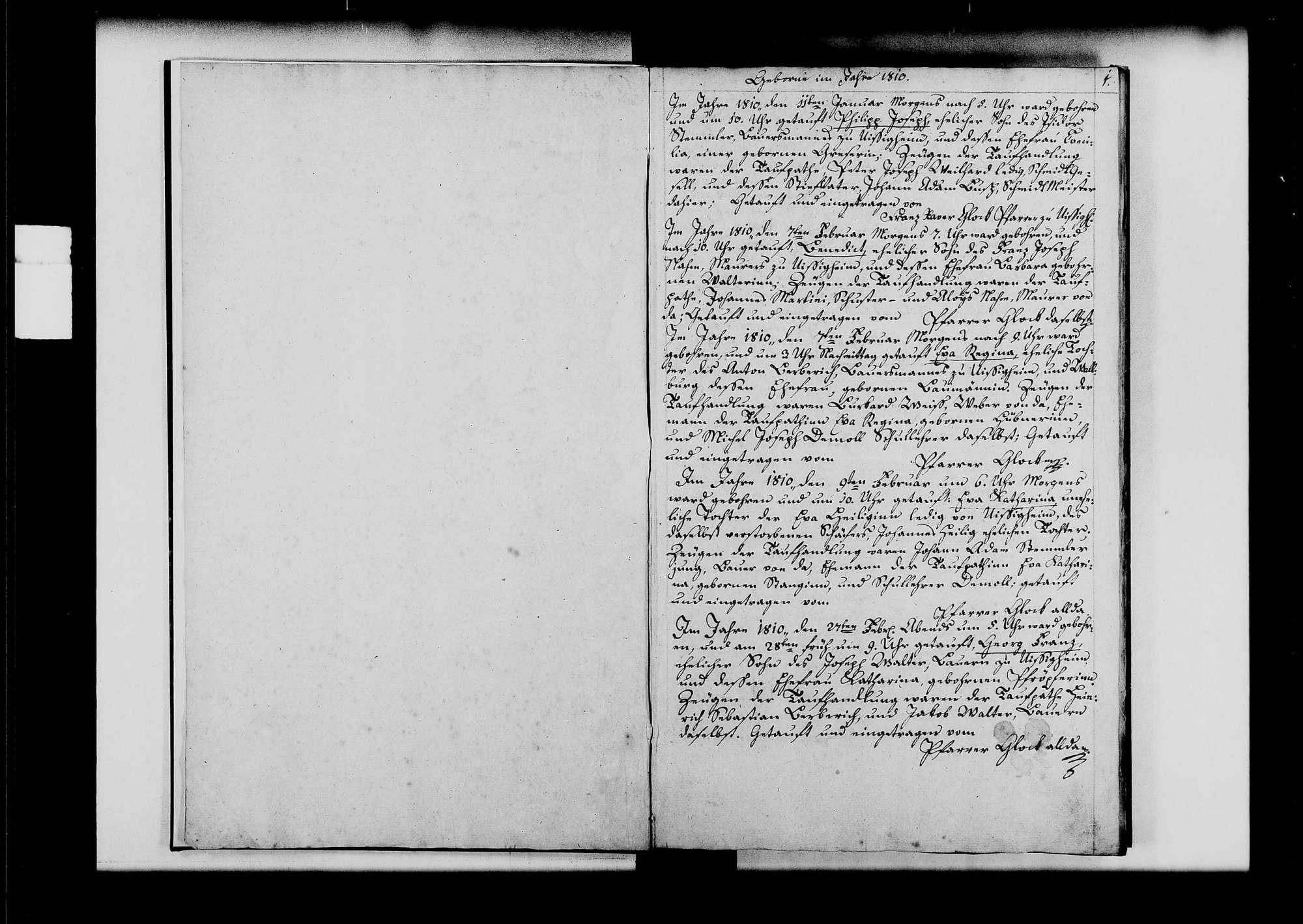 Uissigheim, katholische Gemeinde: Standesbuch 1810-1819, Bild 3