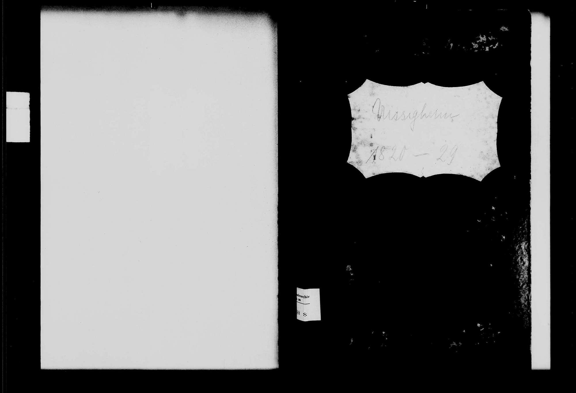 Uissigheim, katholische Gemeinde: Standesbuch 1820-1829, Bild 1