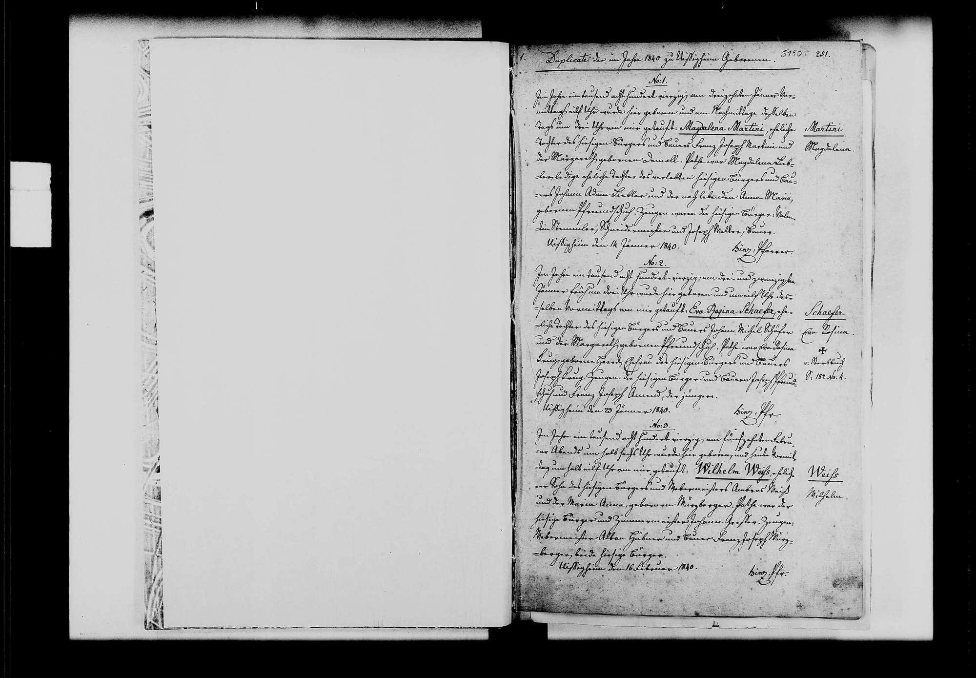 Uissigheim, katholische Gemeinde: Standesbuch 1840-1849, Bild 2