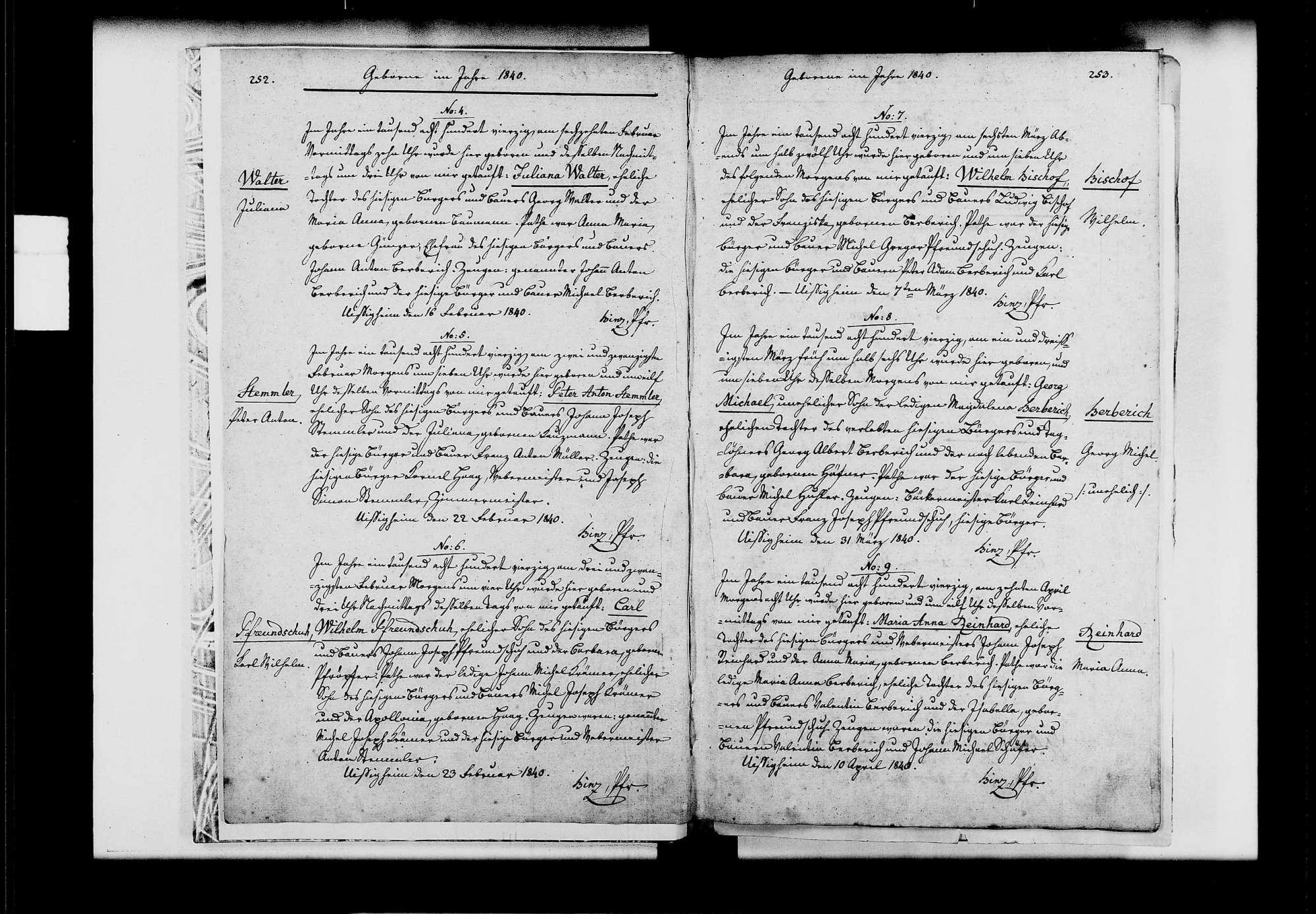 Uissigheim, katholische Gemeinde: Standesbuch 1840-1849, Bild 3