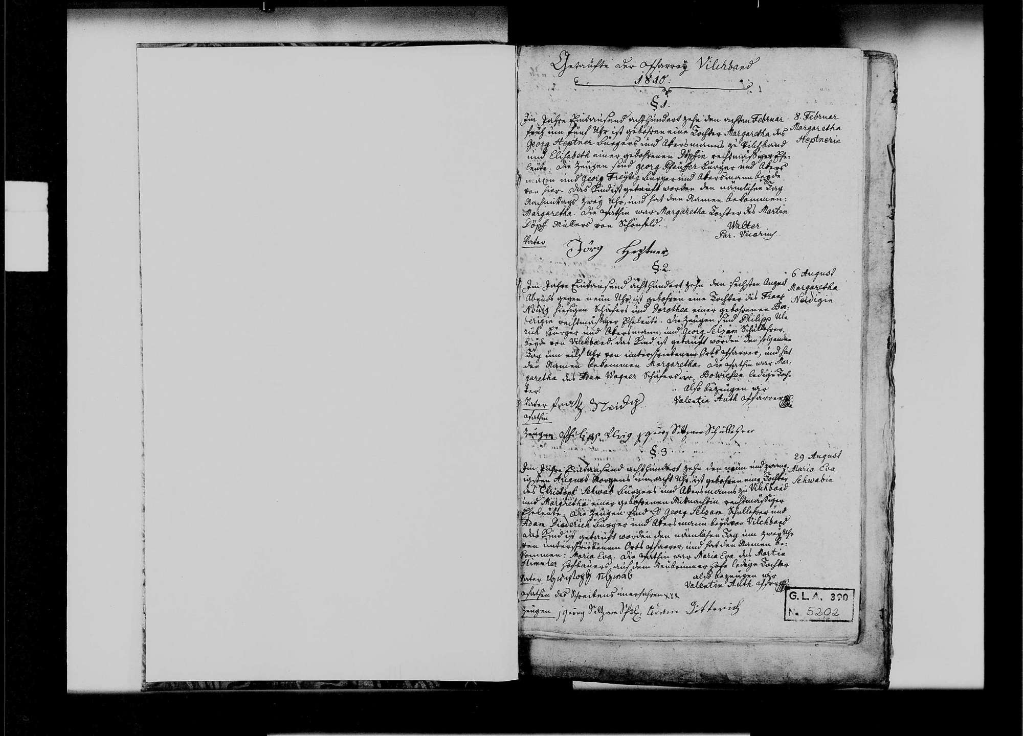 Vilchband, katholische Gemeinde: Standesbuch 1810-1839, Bild 2