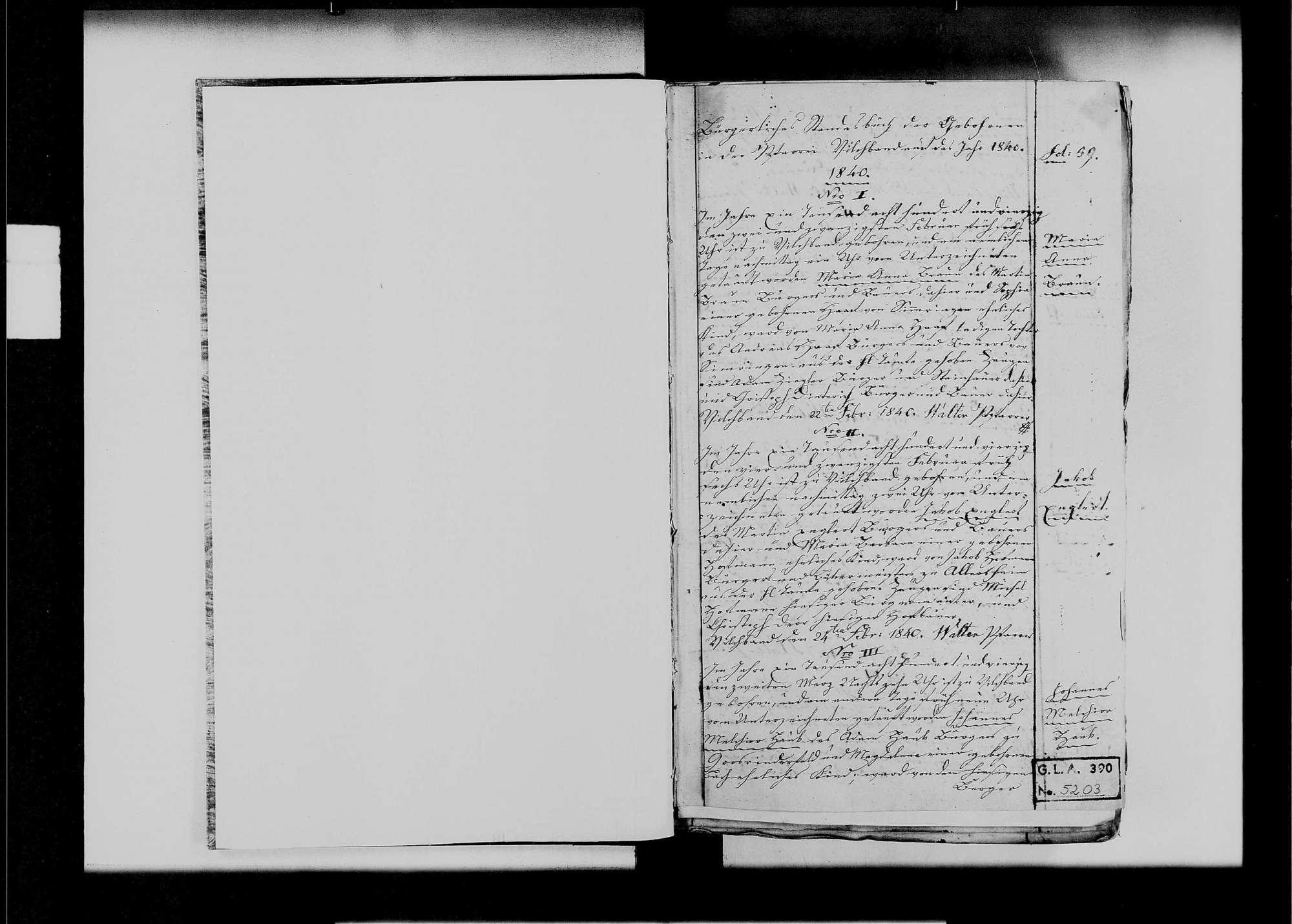 Vilchband, katholische Gemeinde: Standesbuch 1840-1870, Bild 2
