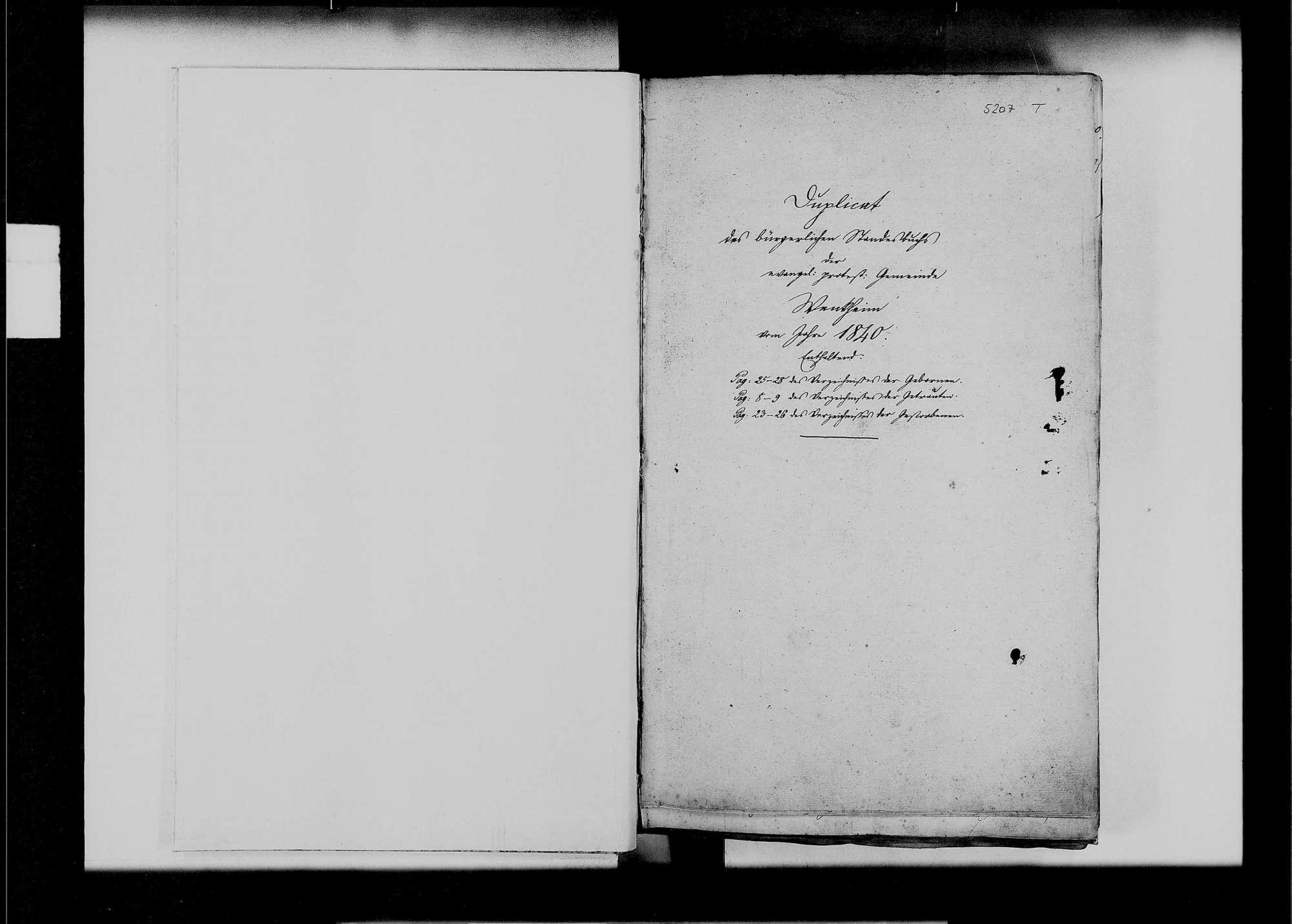 Wenkheim, evangelische, katholische und israelitische Gemeinde: Standesbuch 1840-1849, Bild 2