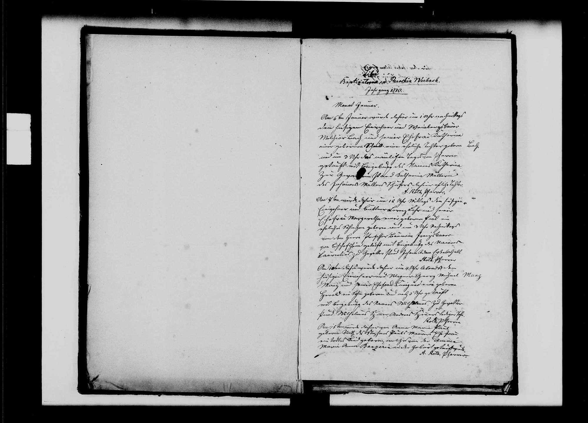 Werbach, katholische Gemeinde: Standesbuch 1810-1819, Bild 3