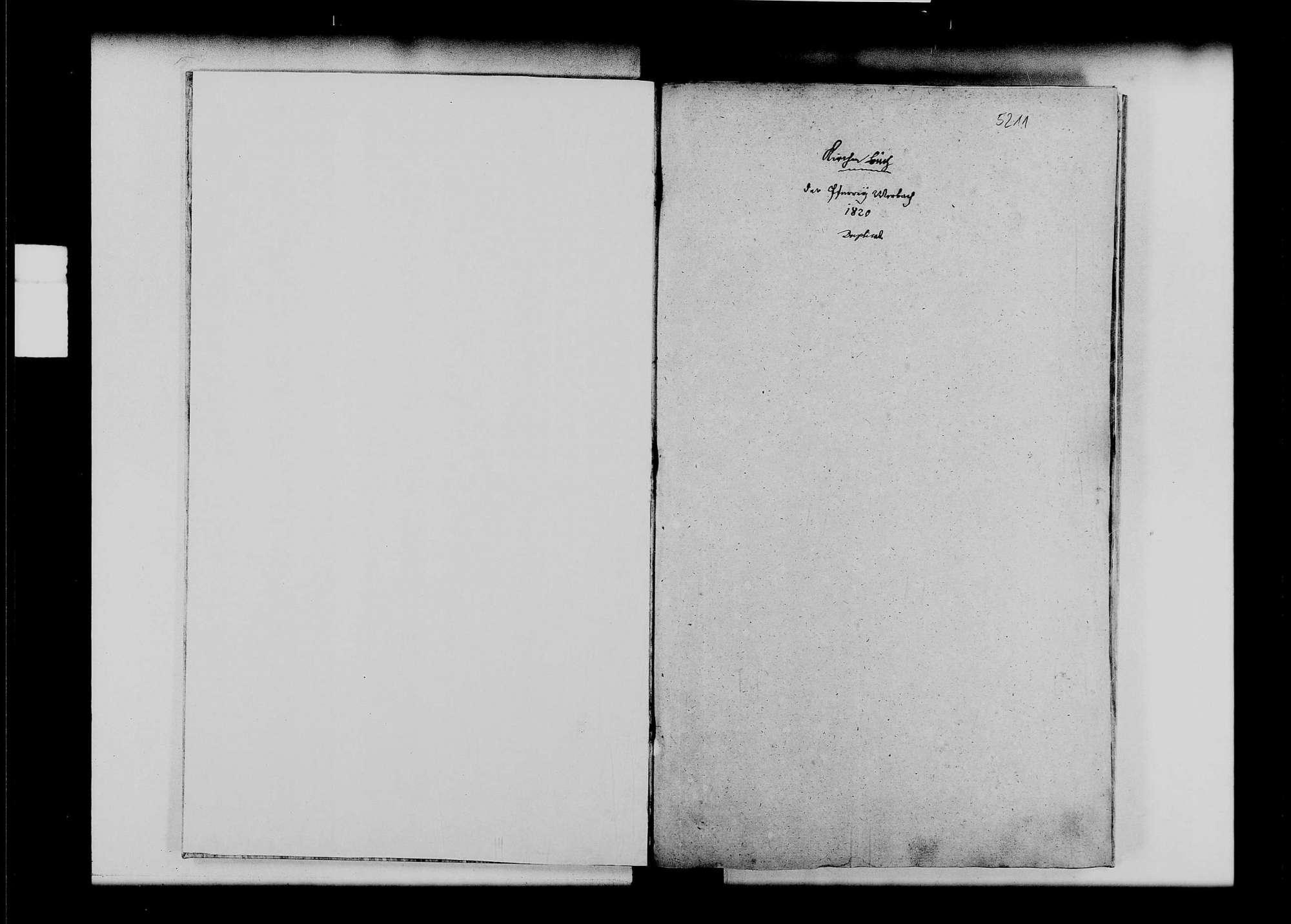 Werbach, katholische Gemeinde: Standesbuch 1820-1829, Bild 2