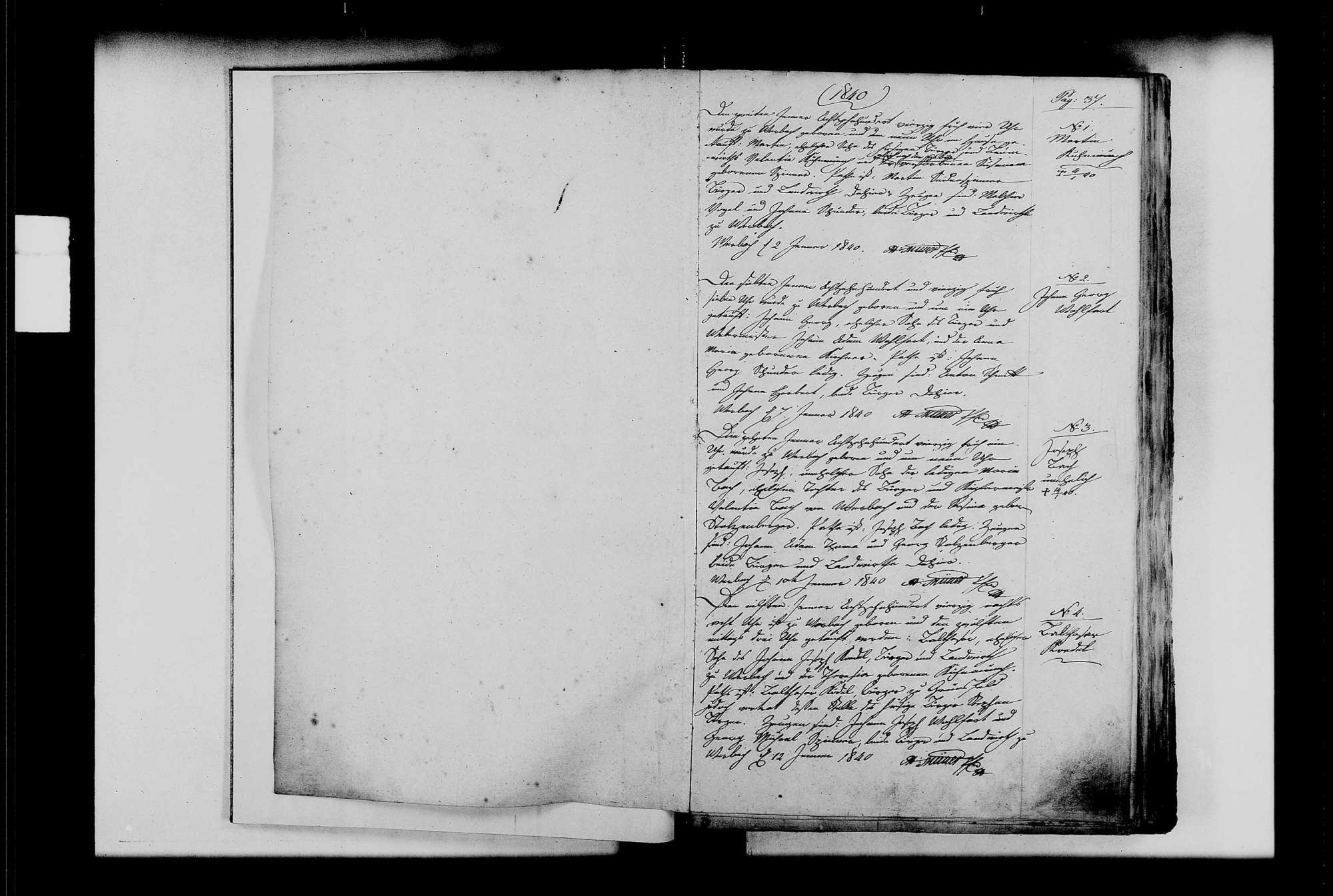 Werbach, katholische Gemeinde: Standesbuch 1840-1849, Bild 3