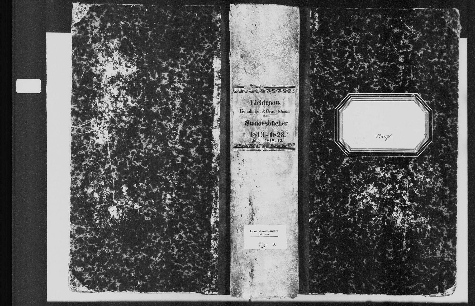 Lichtenau, evangelische Gemeinde: Standesbuch 1810-1823, Bild 1