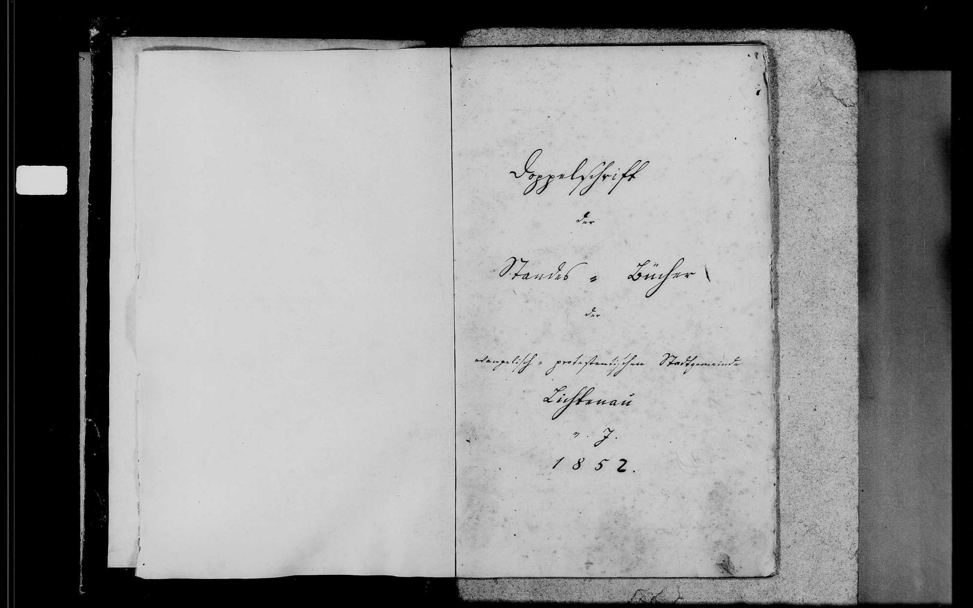Lichtenau, evangelische Gemeinde: Standesbuch 1852-1870, Bild 3