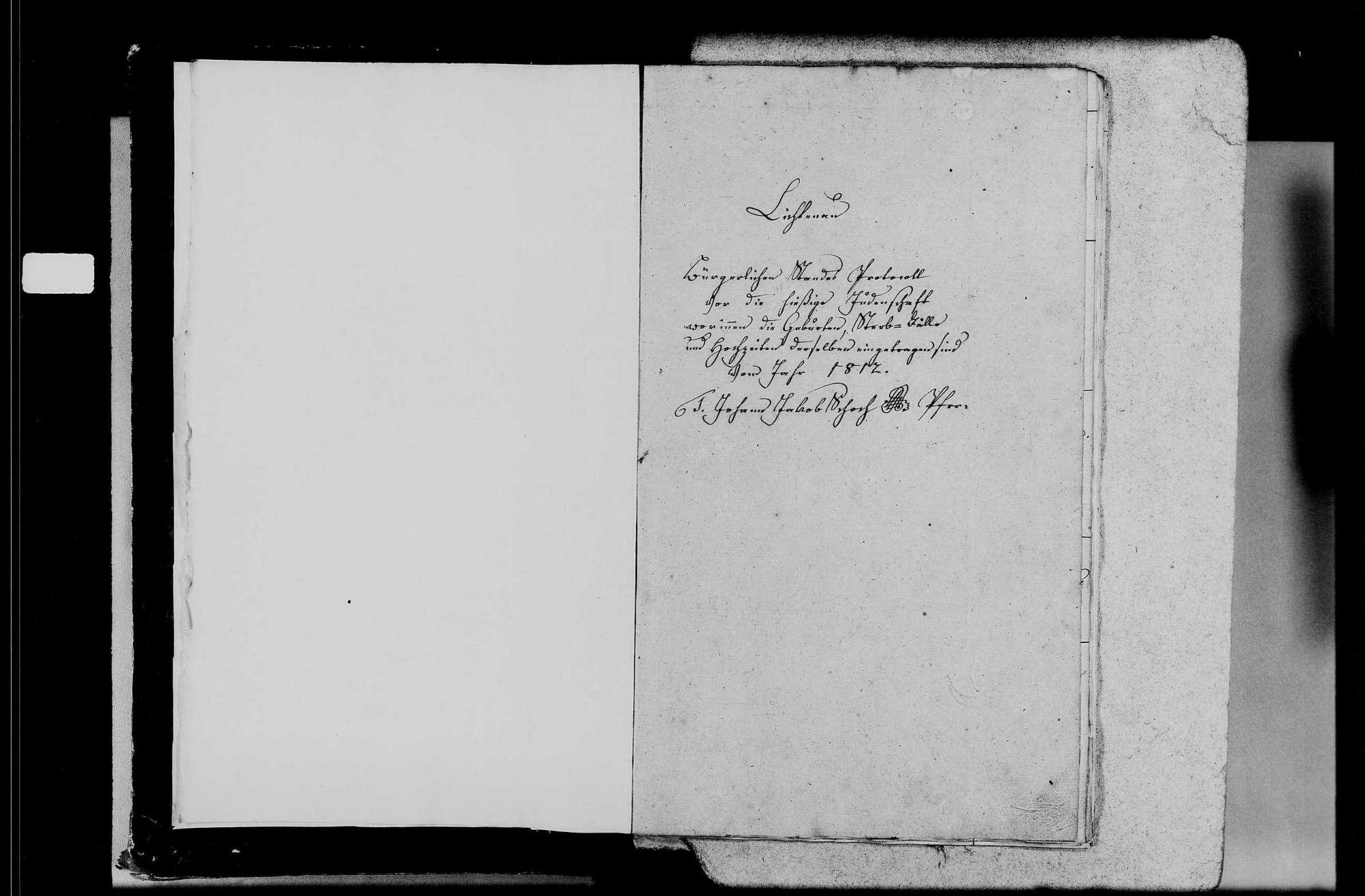 Lichtenau, israelitische Gemeinde: Standesbuch 1812-1870, Bild 3