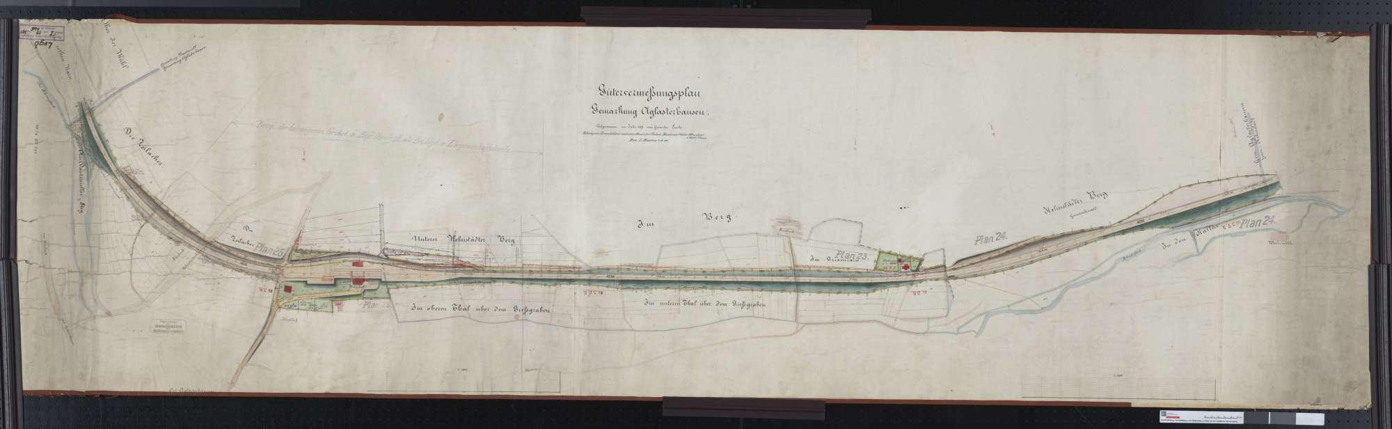 Gütervermessung der Gemarkung Aglasterhausen Streckenausschnitt: 37,4 bis 39,4 km, Bild 1