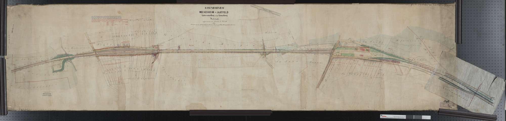 Gütervermessung der Bahn von Meckesheim bis Jagstfeld: Gemarkung Babstadt Streckenausschnitt: 23,1 bis 25,5 km, Bild 1