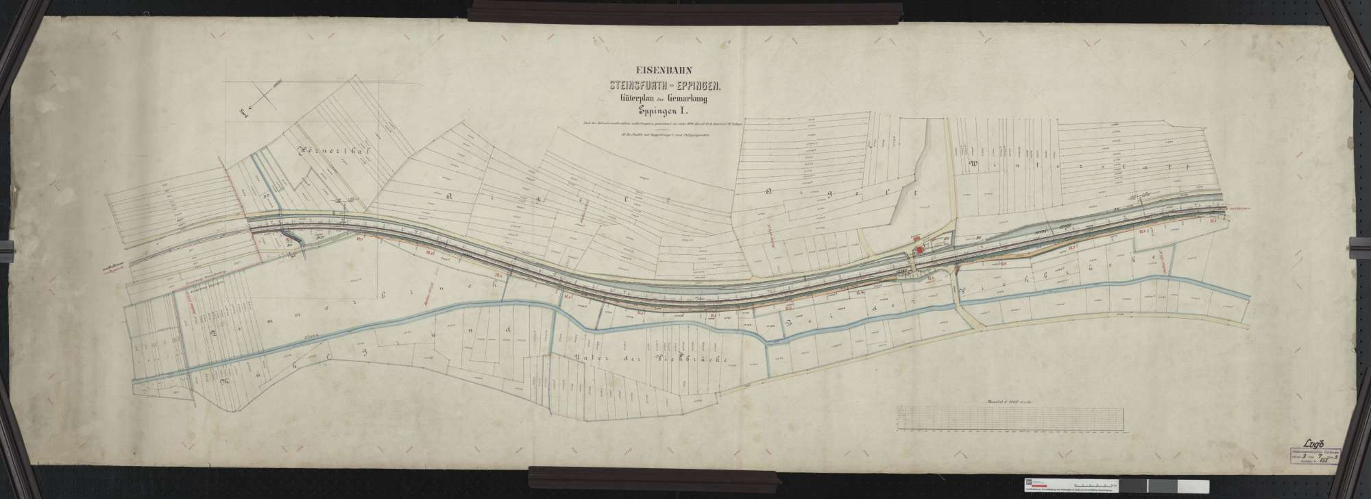 Güterplan der Bahn von Steinsfurt bis Eppingen: Gemarkung Eppingen Streckenausschnitt: 10,6 bis 11,9 km, Bild 1