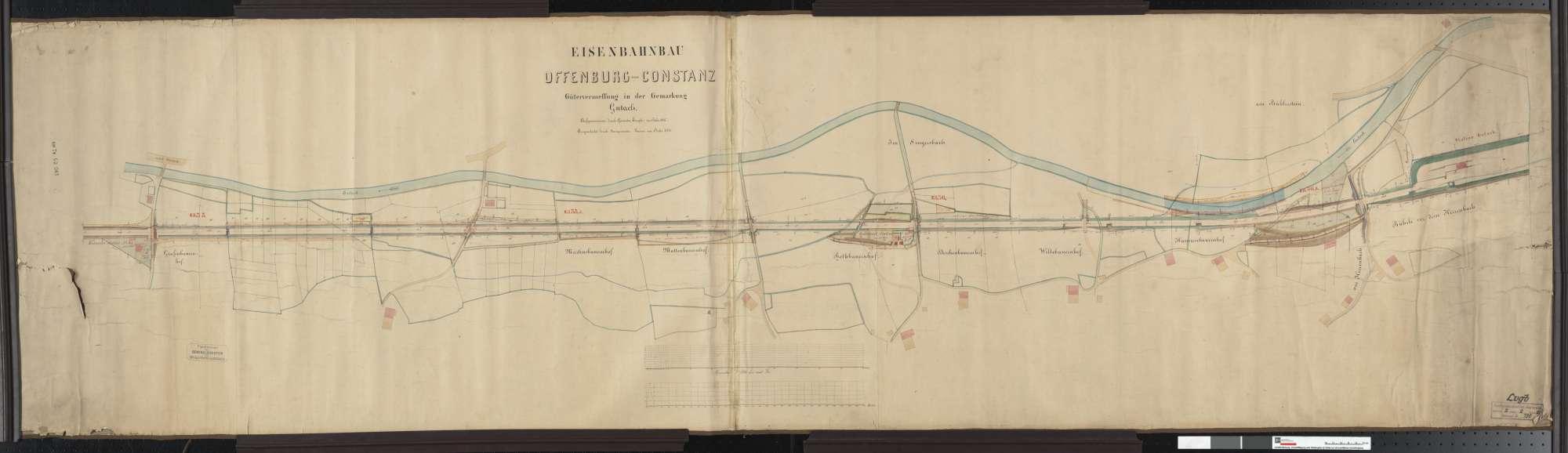 Gütervermessung der Bahn von Offenburg bis Konstanz: Gemarkung Gutach Streckenausschnitt: 34,9 bis 36,7 km, Bild 1