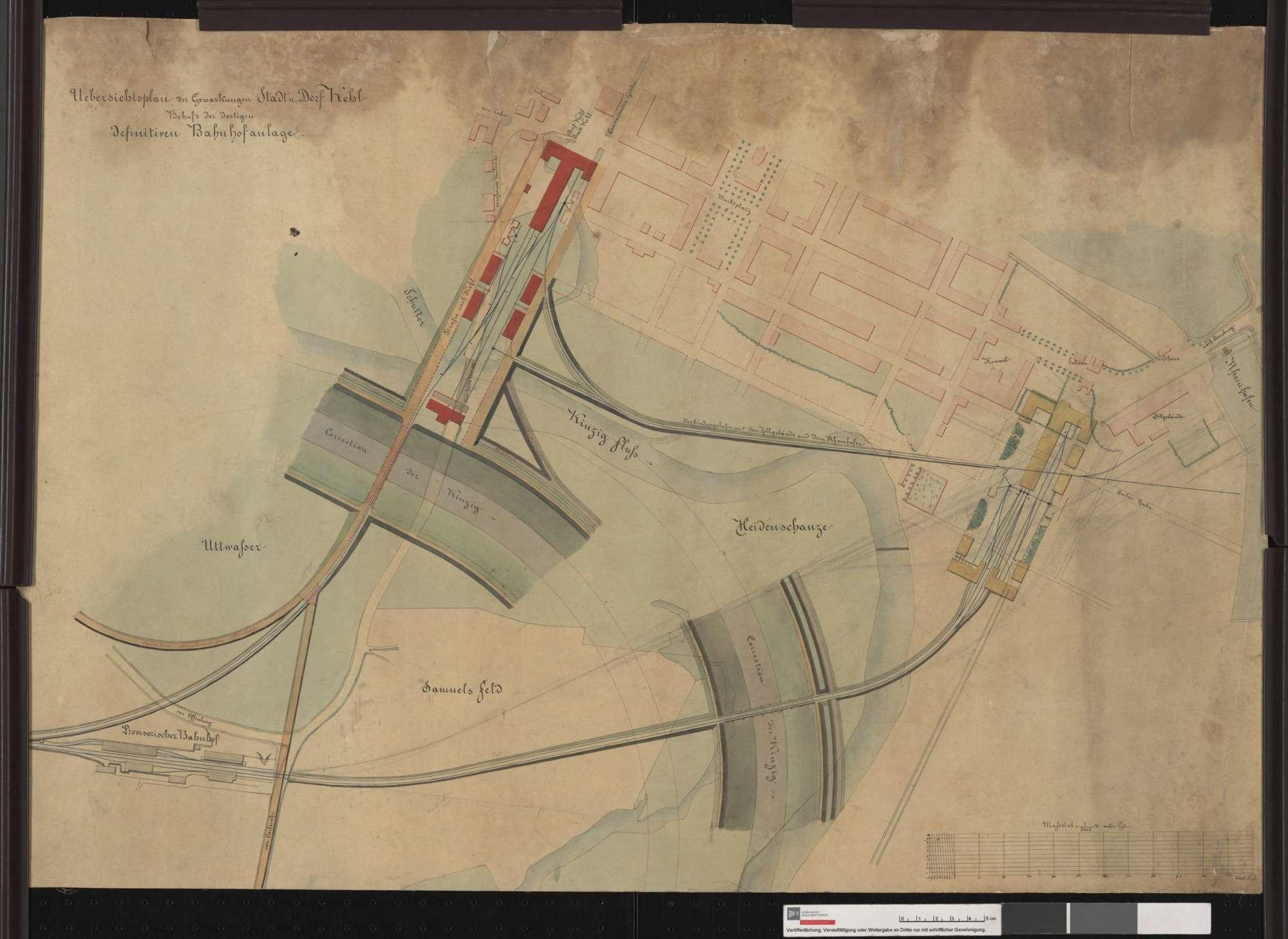 Situationsplan der Bahnhofsanlage Kehl, Bild 1