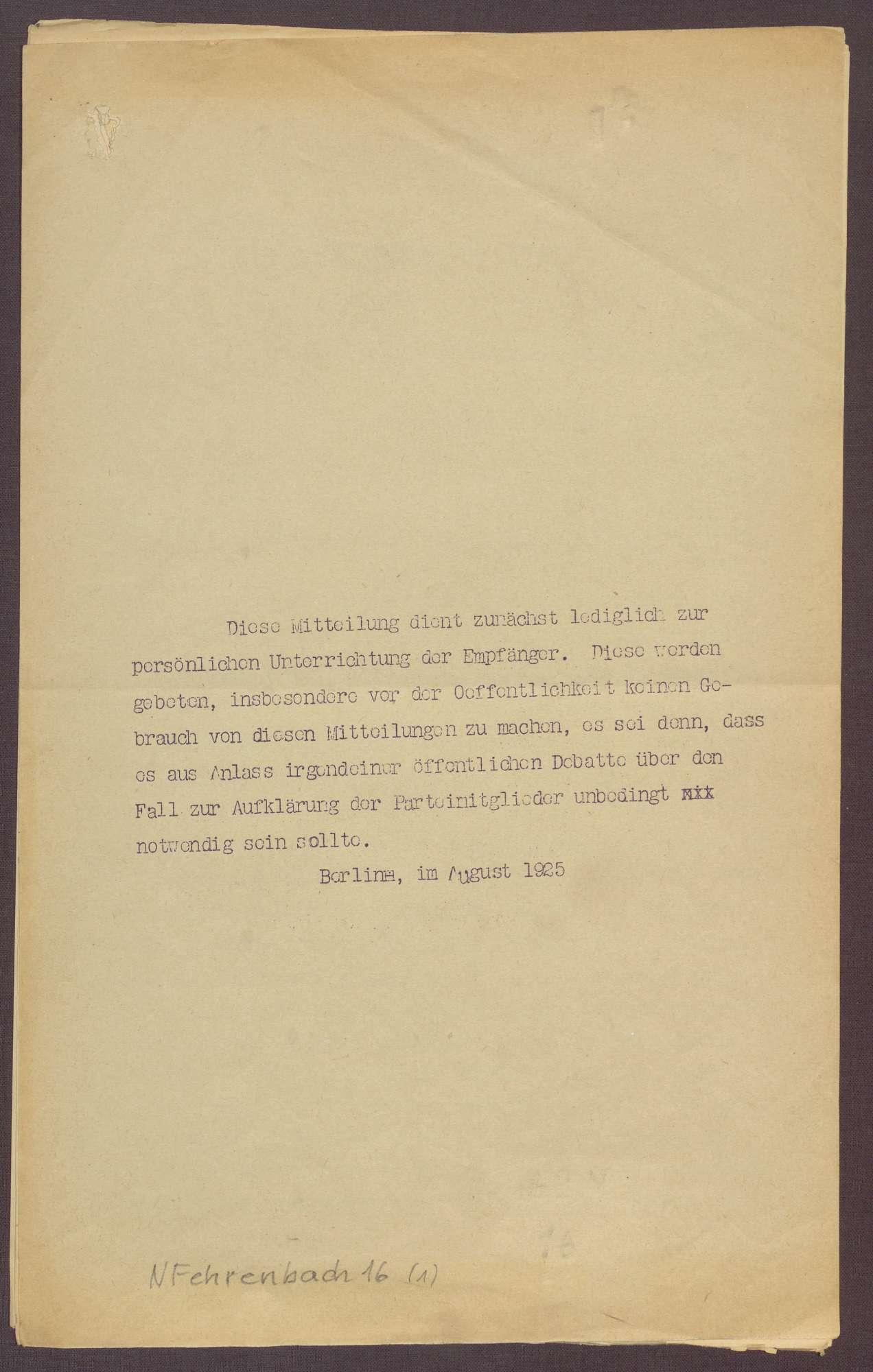 Fraktionsaustritt von Joseph Wirth und Zollvorlage der Regierung, Bild 1