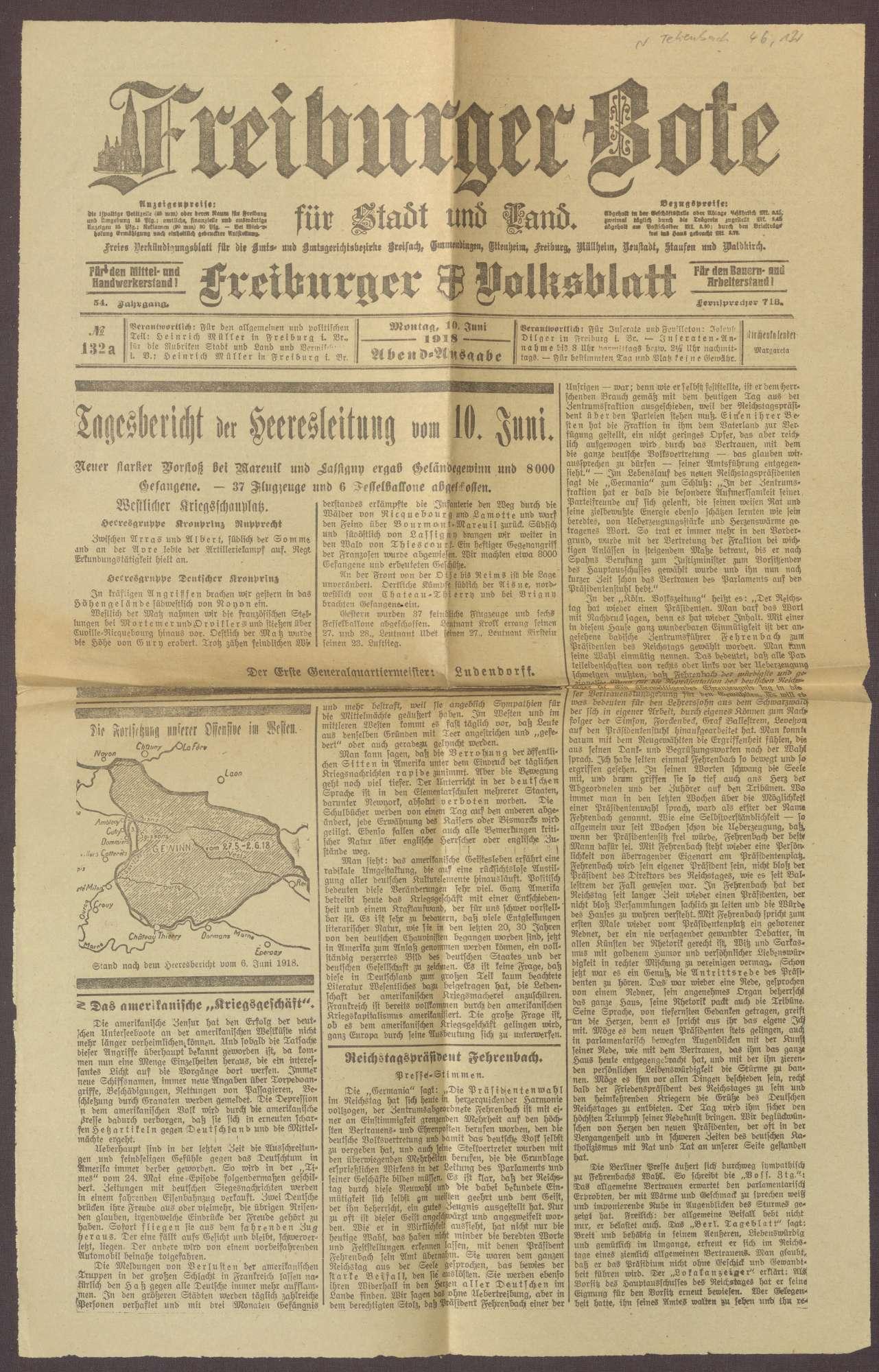 """Ausgabe von """"Freiburger Bote"""", Bild 1"""