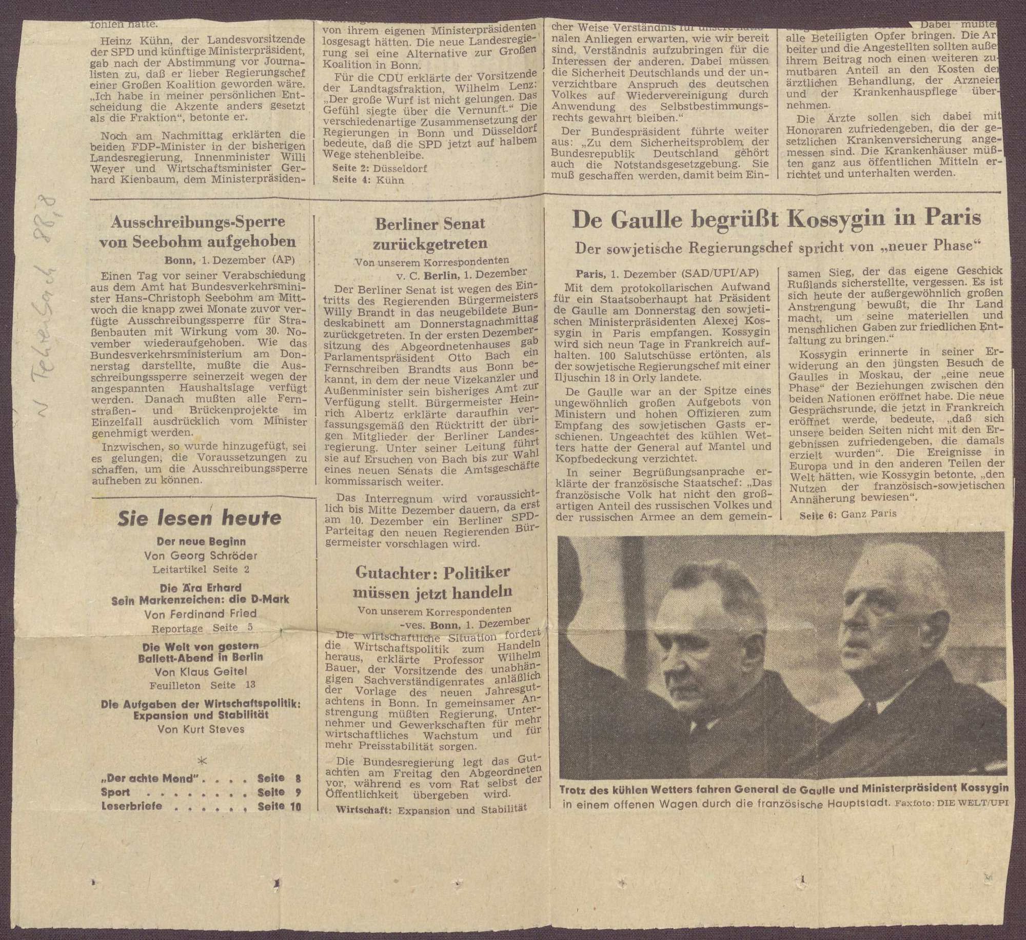 Ausschnitt aus einer unbekannten Zeitung, Bild 2
