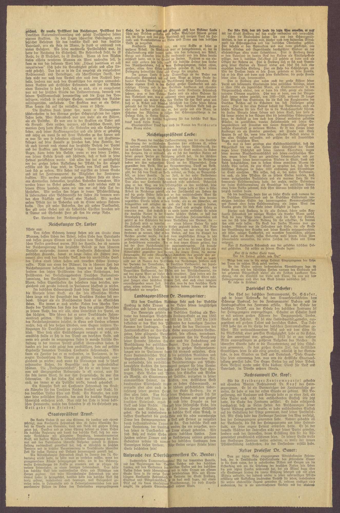 """Ausgabe von """"Freiburger Tagespost"""", Bild 2"""