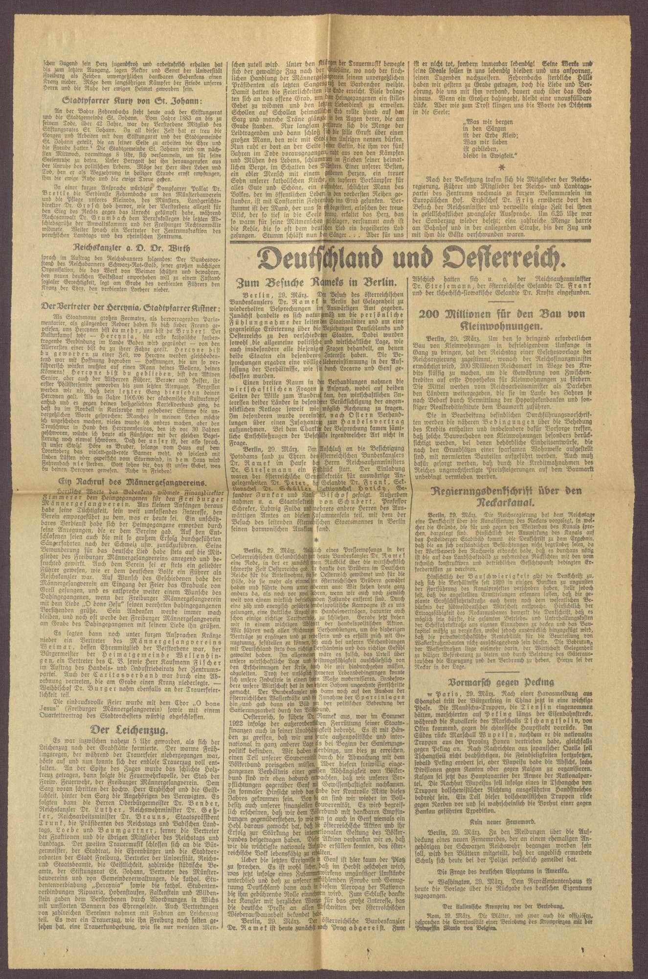 """Ausgabe von """"Freiburger Tagespost"""", Bild 3"""