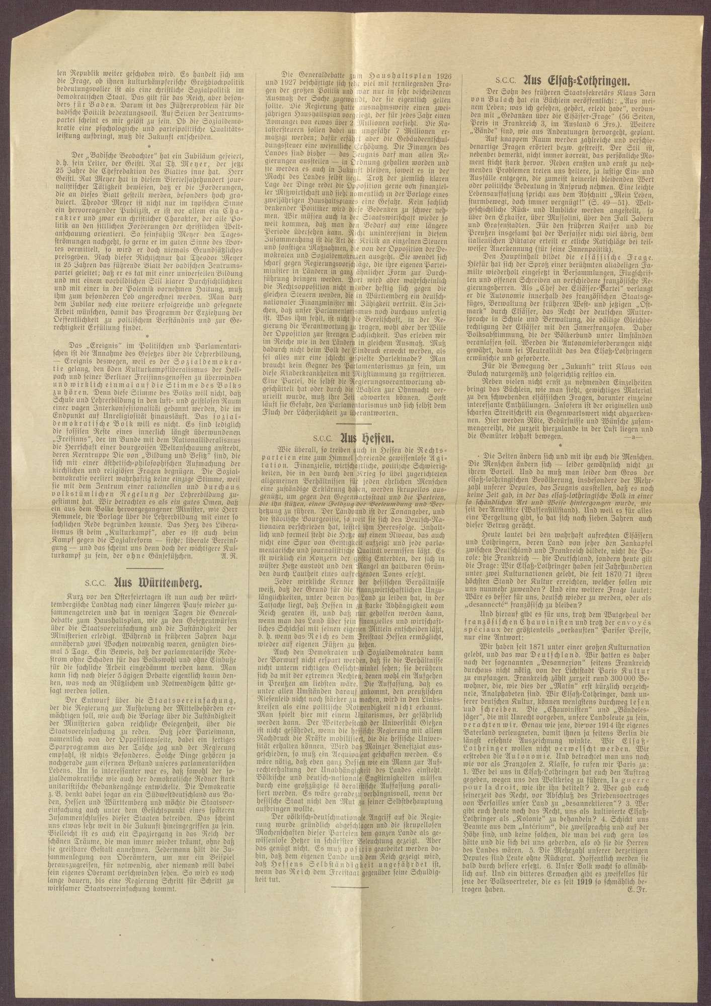 """Ausgabe von """"Süddeutsche Conservative Correspondenz"""", Bild 2"""