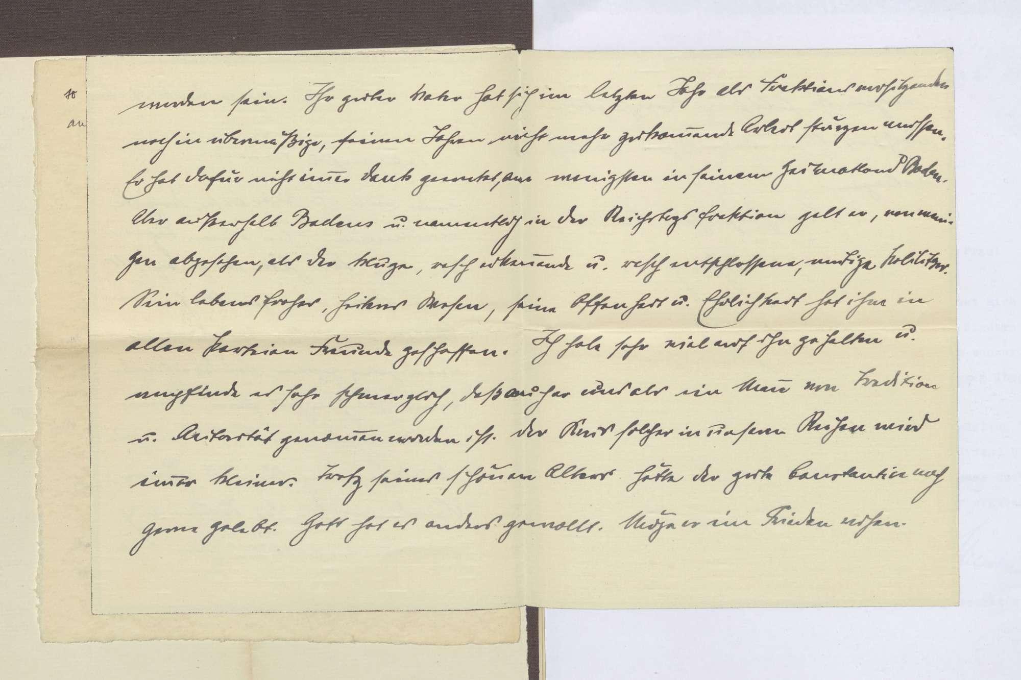 Schreiben von Eugen Bolz an Elisabeth Rosset, Kondolenzschreiben zum Tod von Constantin Fehrenbach, Bild 2