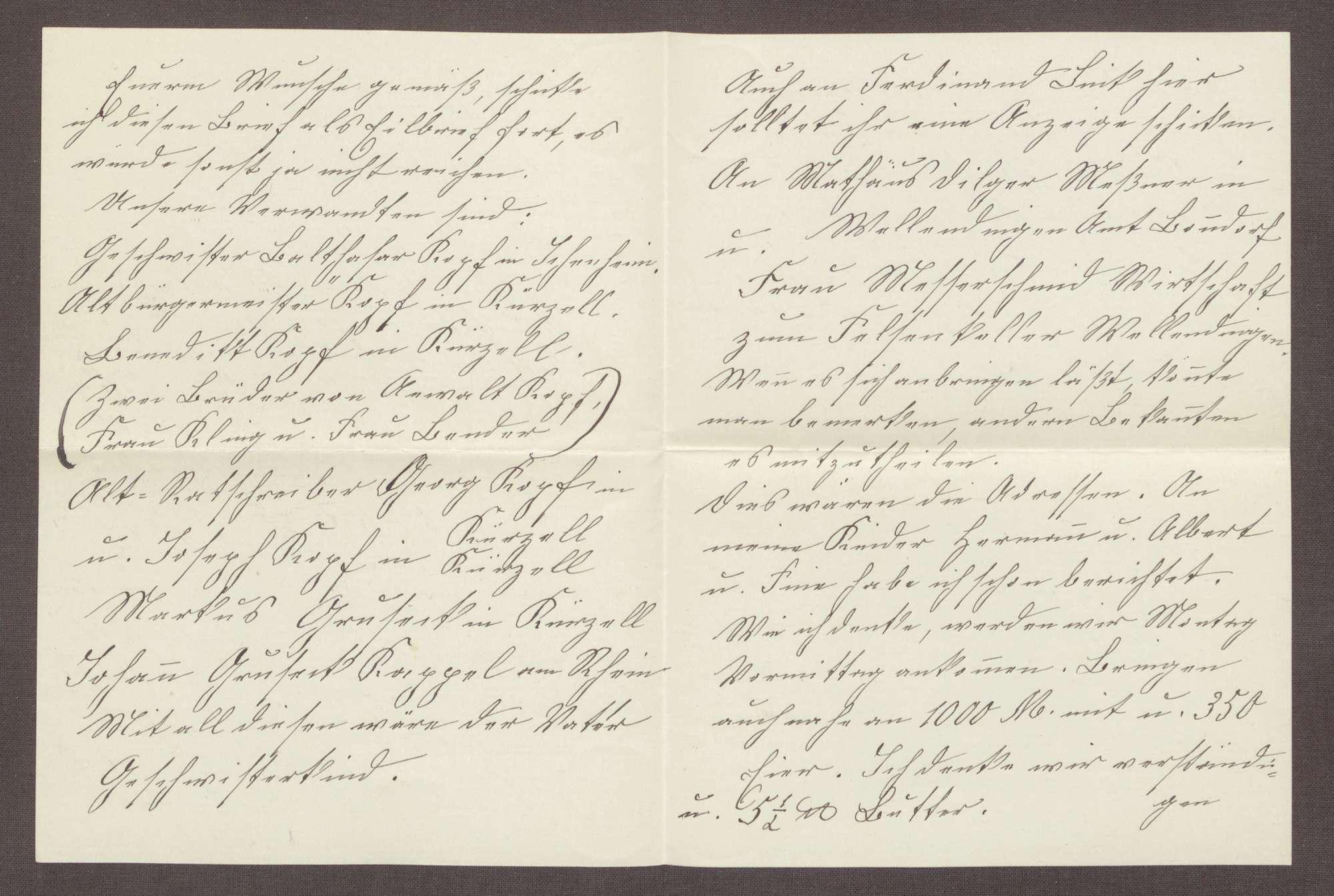 Schreiben von Mathilde, Dundenheim, an Elisabeth Rosset, Kondolenzbrief zum Tod von Constantin Fehrenbach, Bild 2