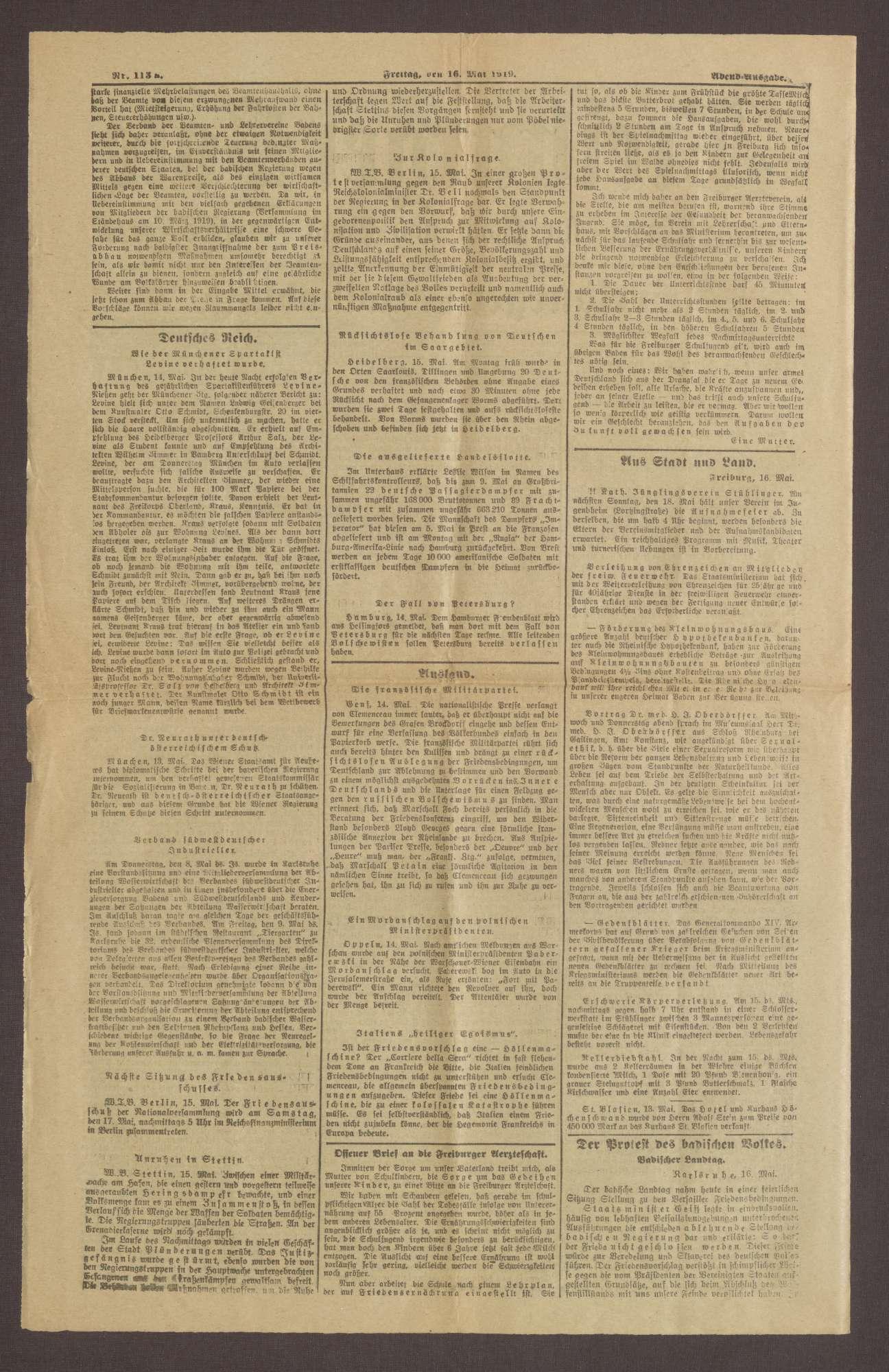 """Ausgabe von """"Freiburger Bote"""", Bild 2"""