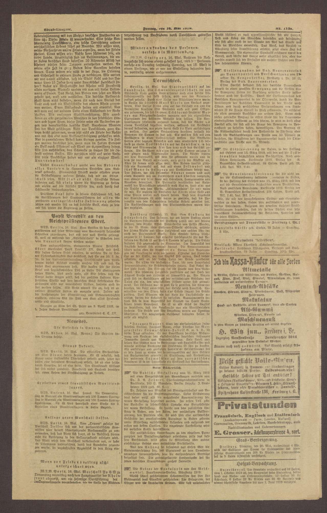 """Ausgabe von """"Freiburger Bote"""", Bild 3"""