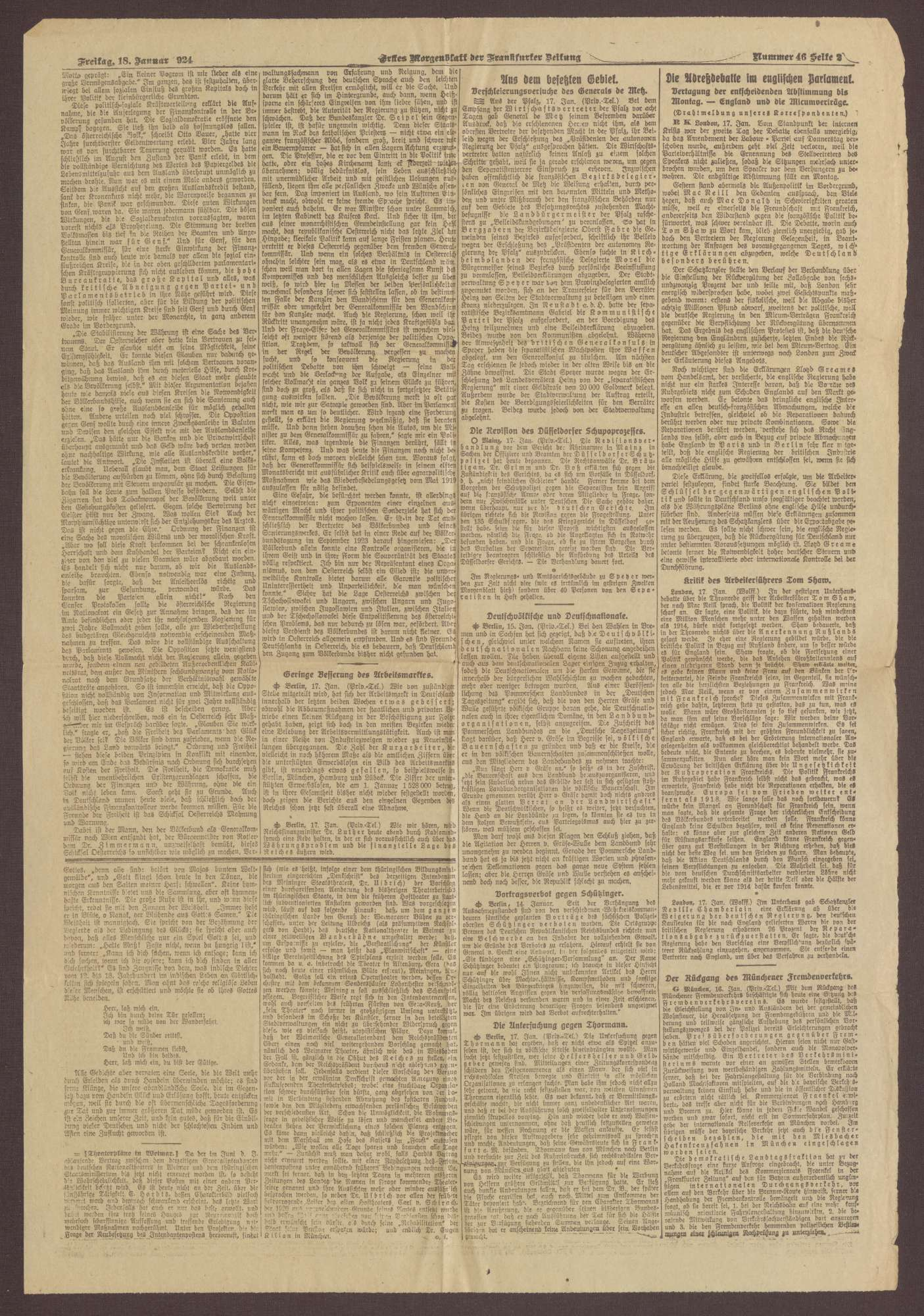 """Ausgabe von """"Frankfurter Zeitung"""", Bild 2"""