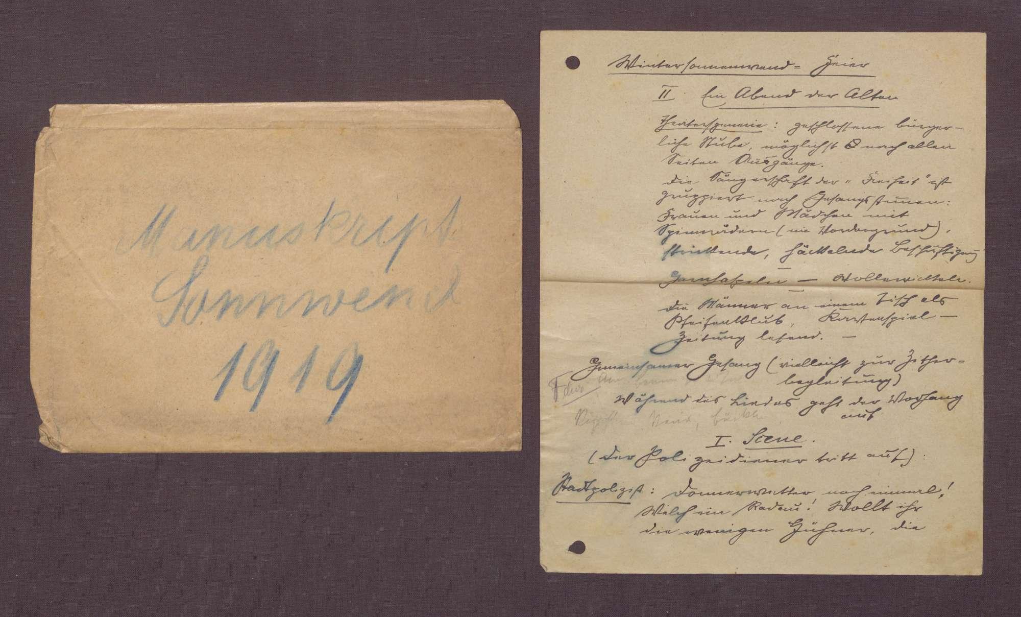 """Manuskript """"Wintersonnenwend-Feier"""", Bild 1"""