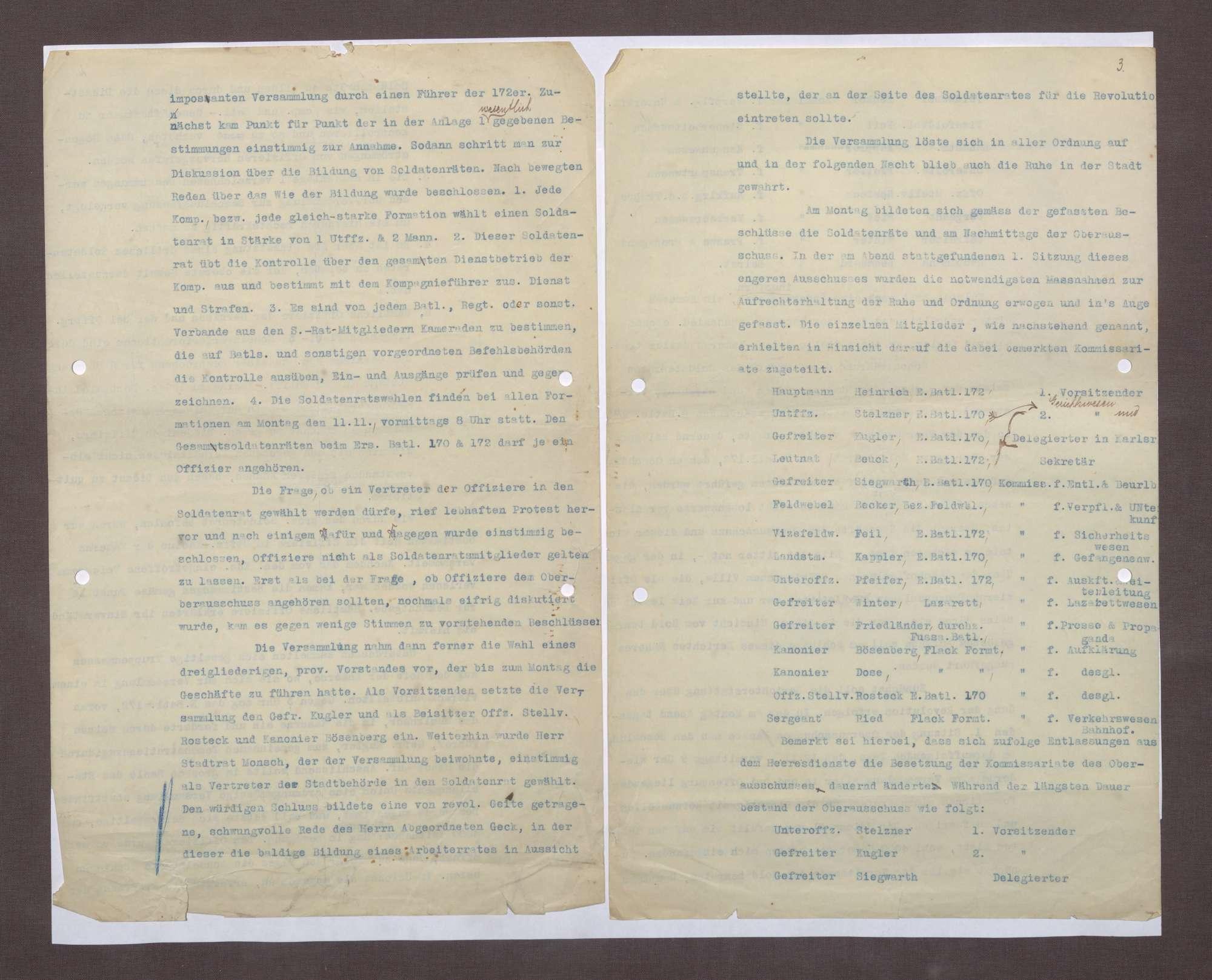 Arbeiter- und Soldatenrat Offenburg: Untersuchungen wegen Wuchers, Unterschlagung von Lebensmitteln, Bild 3