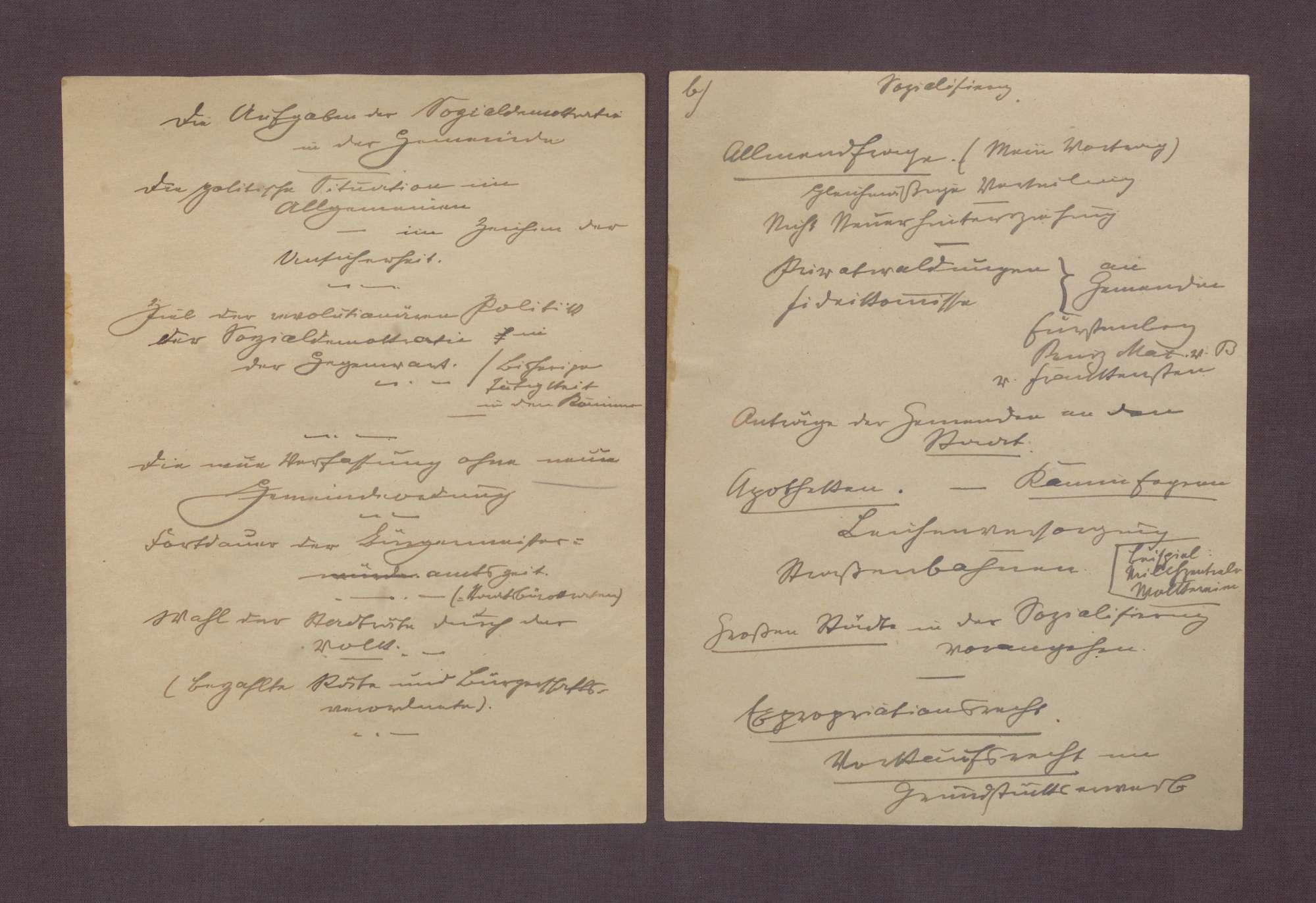 Manuskript: Die Aufgaben der Sozialdemokratie in der Gemeinde, Bild 2