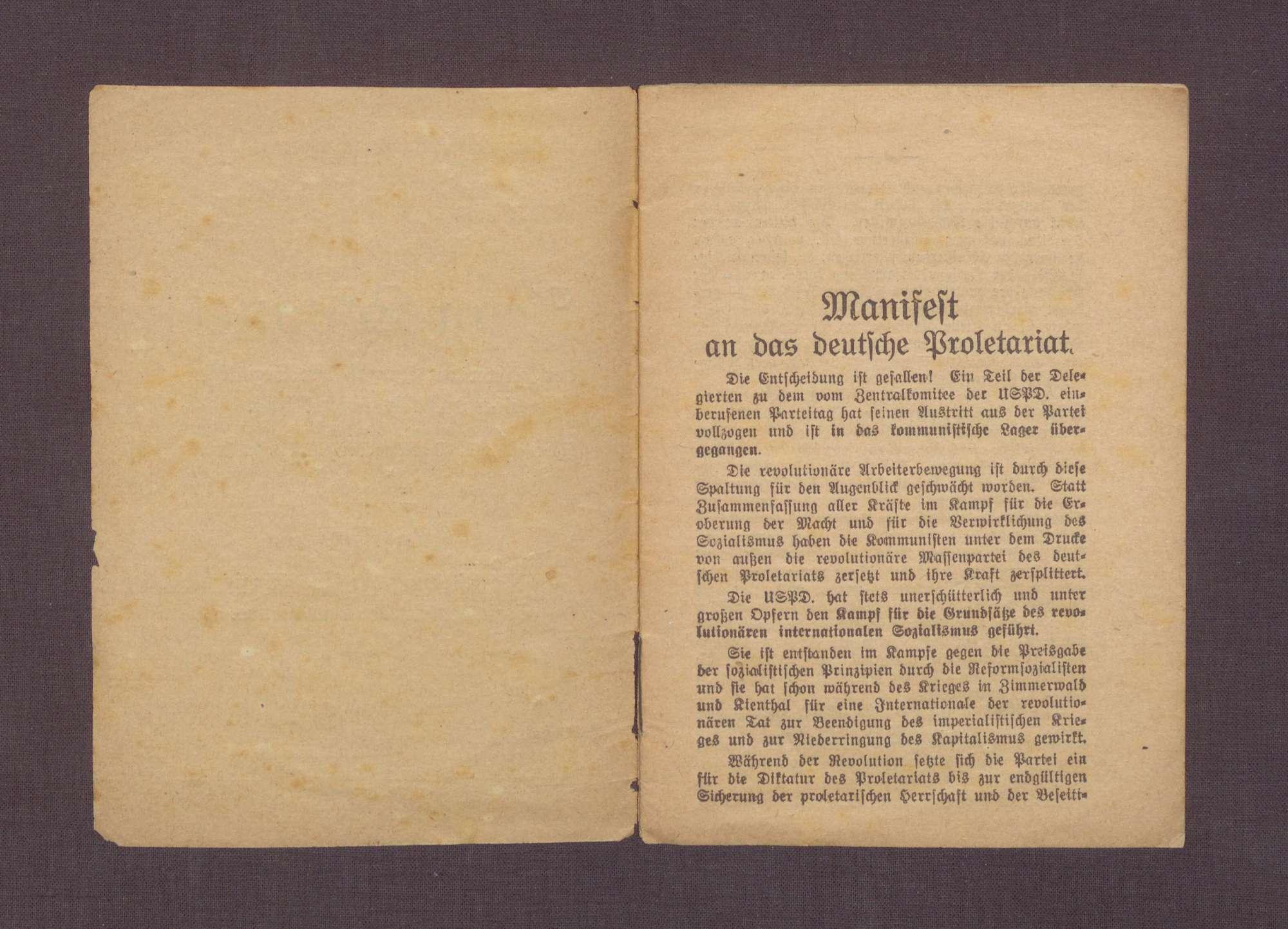 """Broschüre: """"Jean Longuet, Führer der französischen Sozialisten, über das Moskauer Diktat."""", Rede auf dem Parteitag der USPD in Halle, 1920/21, Bild 3"""