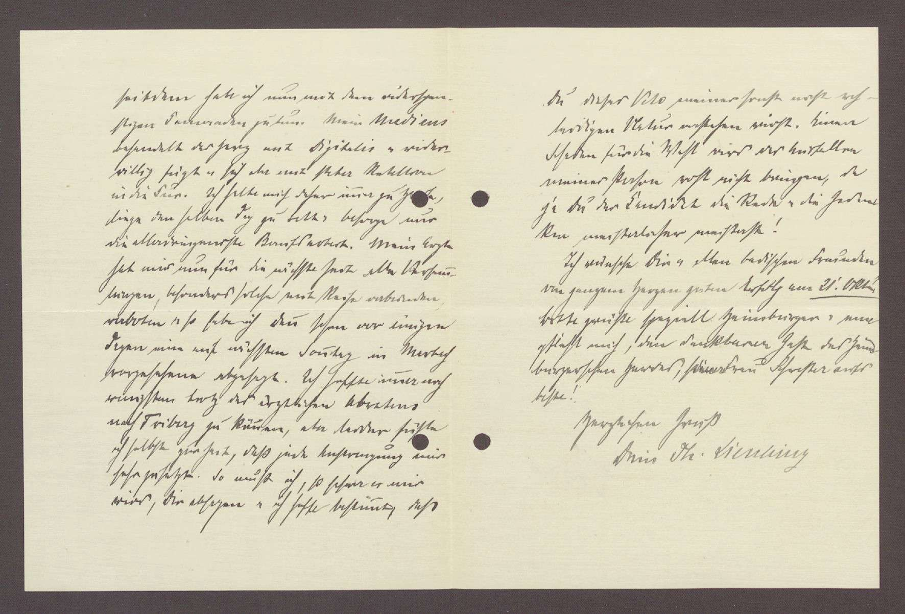 Schreiben von Theodor Liesching, Tübingen, an Hermann Hummel, Karlsruhe: Rückkehr von einer Ferienreise und Auftritt im 26. Wahlkreis, 2 Schreiben, Bild 2