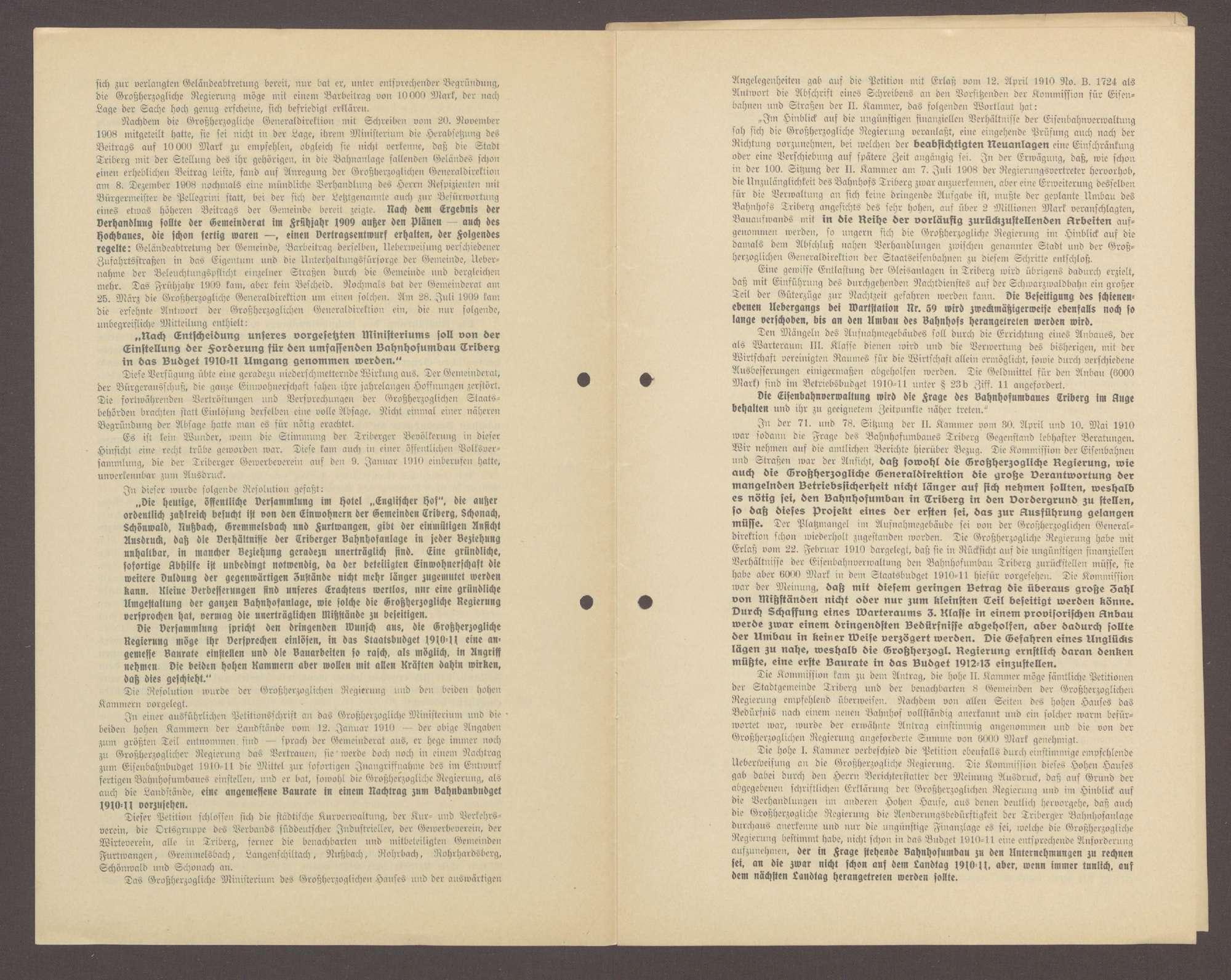 Druckschrift: Eingabe des Gemeinderates der Stadt Triberg an die hohe Zweite Kammer der badischen Landstände in Karlsruhe, Bild 3