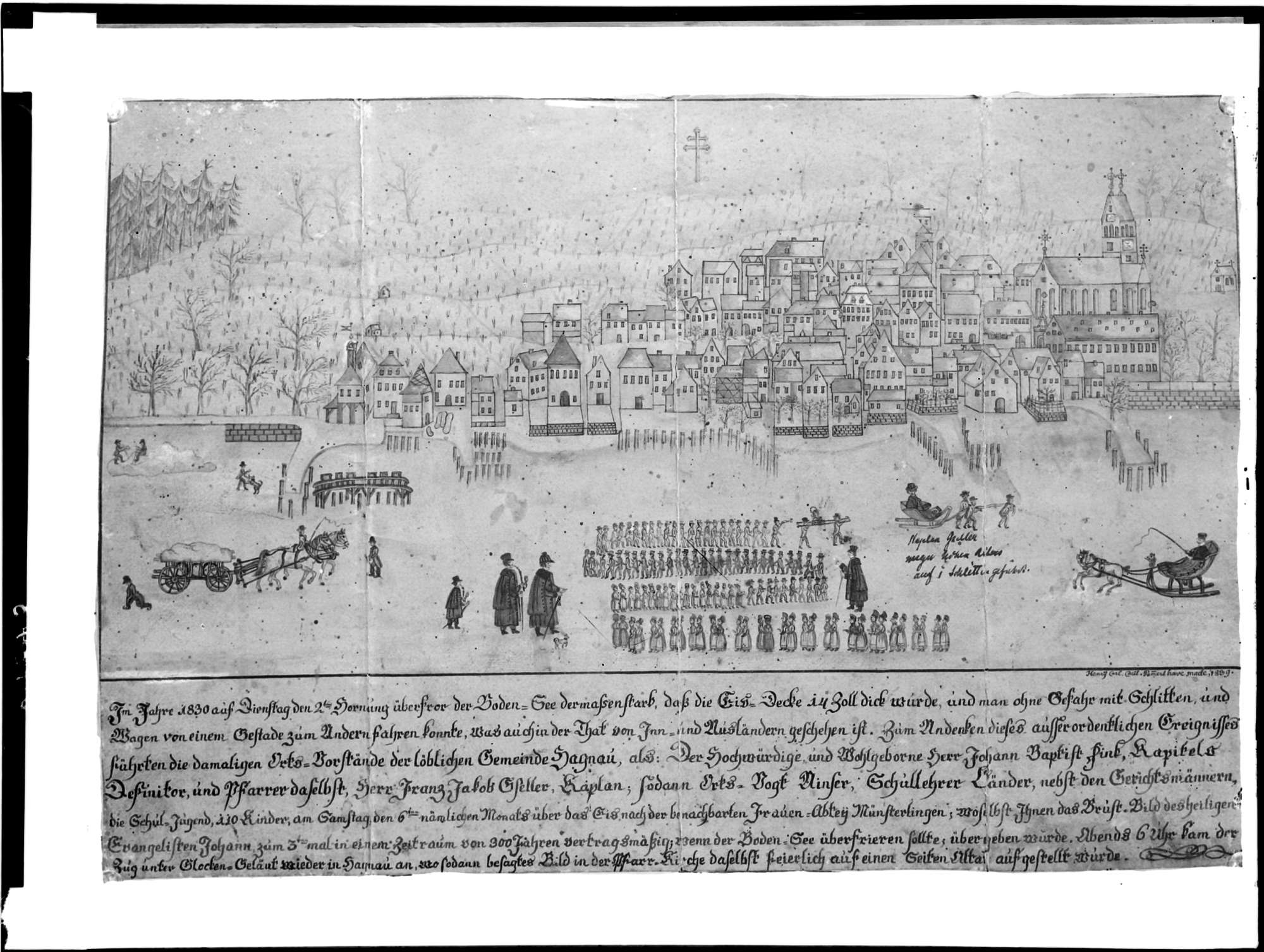 Hagnau Seeprozession 6. Februar 1830, Bild 1