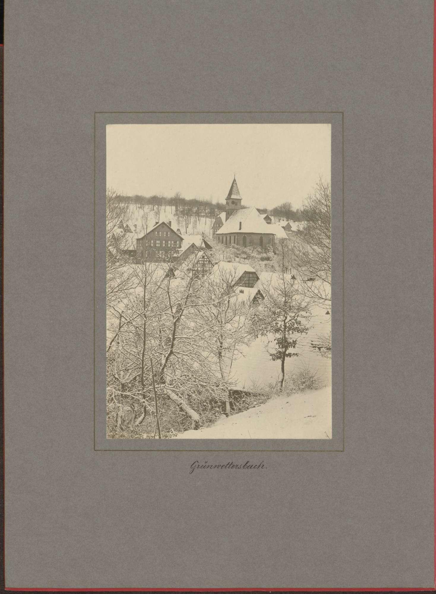 """""""Grünwettersbach"""" (im Schnee)., Bild 1"""