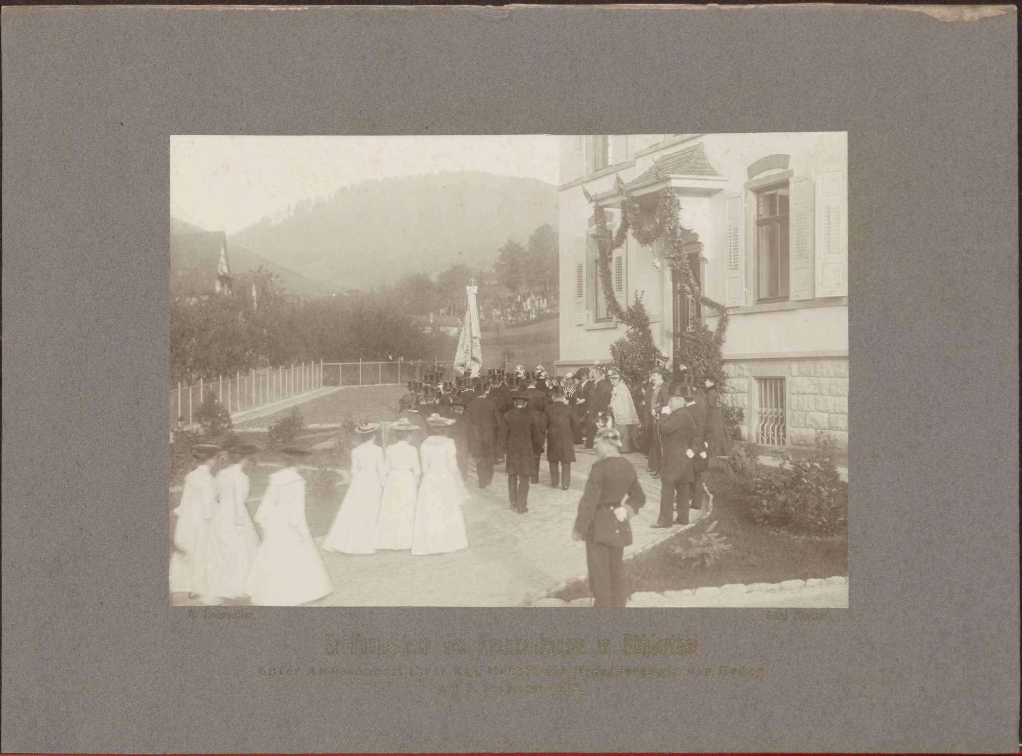 Eröffnungsfeier mit Großherzogin Luise., Bild 1