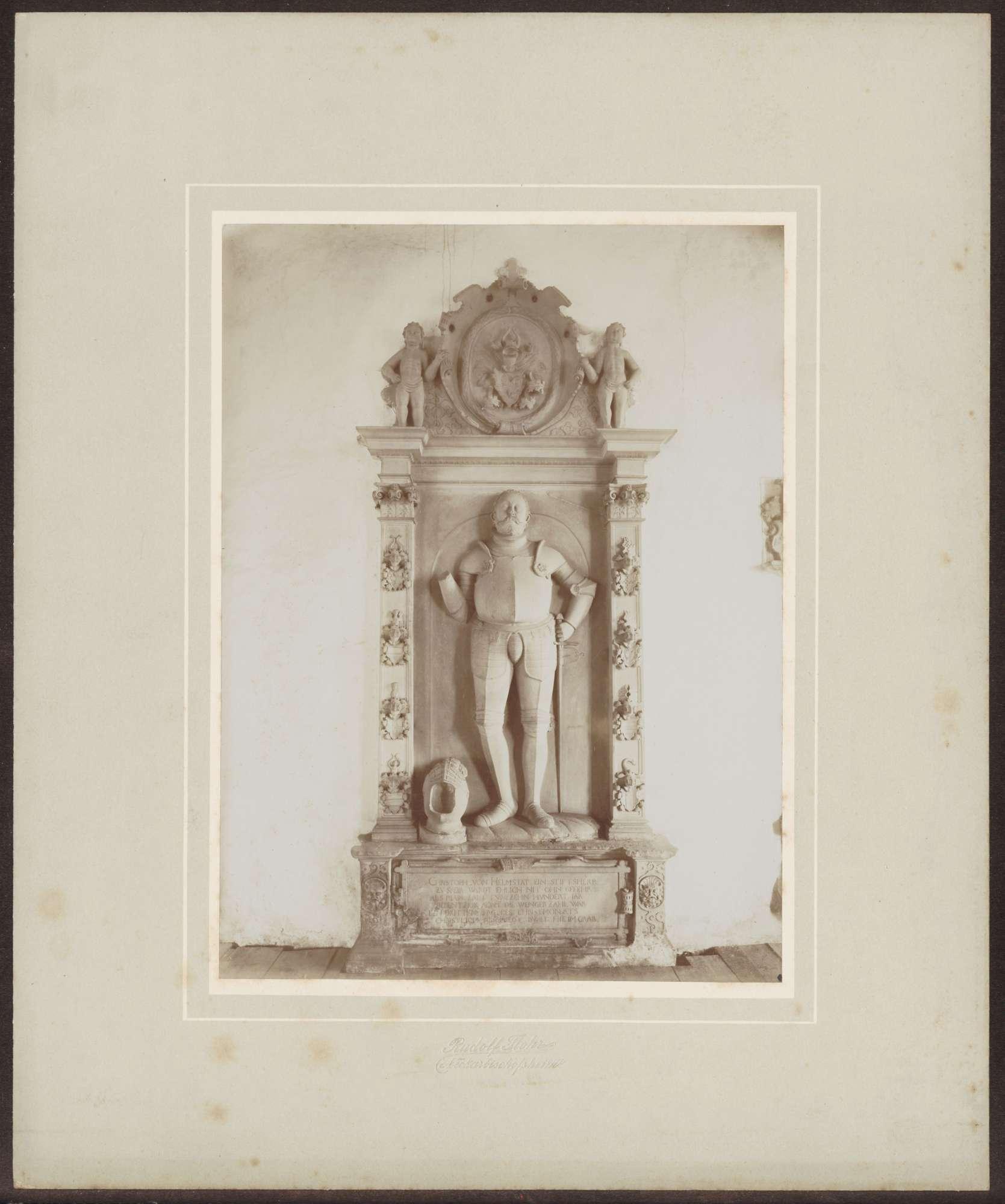 Neckarbischofsheim, Totenkirche, Grabplatte Christoph von Helmstatt., Bild 1