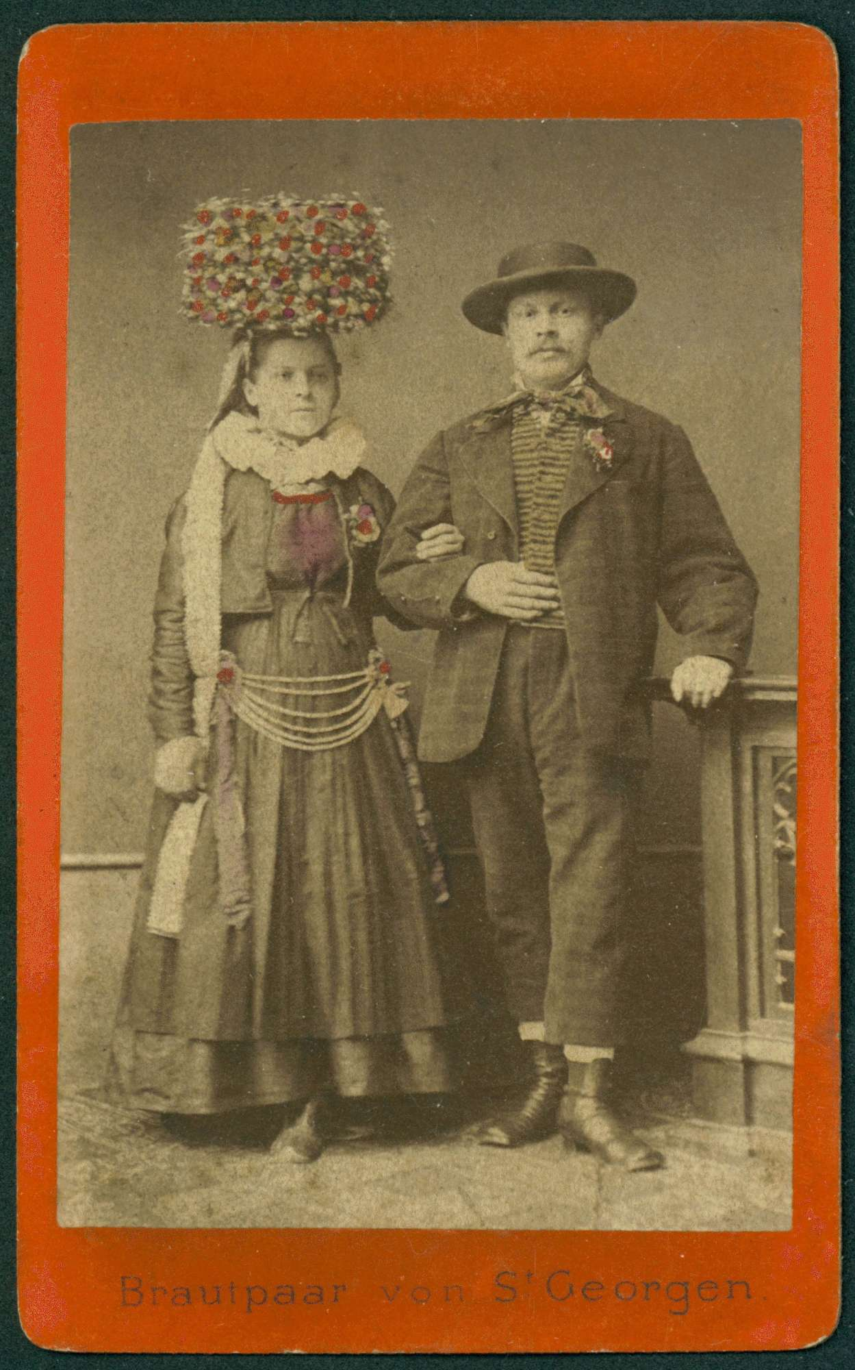 Tracht St. Georgen, Brautpaar., Bild 1