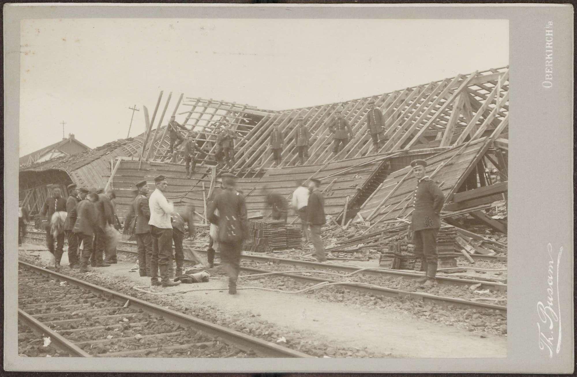 Bahnhof Appenweier, Verheerungen durch das Unwetter vom 10. August 1905., Bild 1