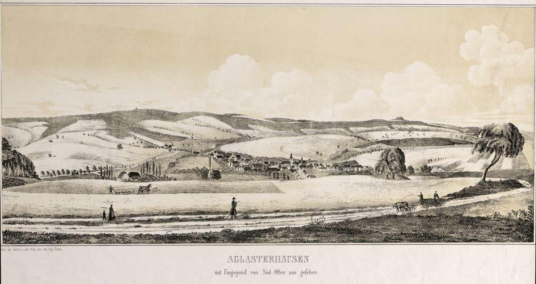 Aglasterhausen mit Umgebung von Süd-Osten aus gesehen, Bild 1