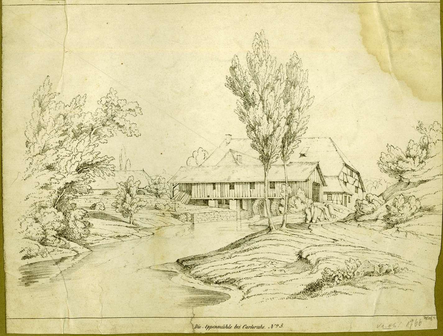 Die Appenmühle bei Carlsruhe N{ummer]o 5, Bild 1