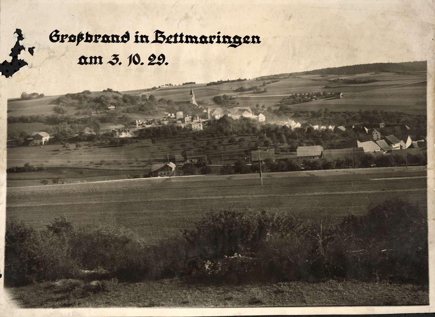 Großbrand in Bettmaringen, Bild 1