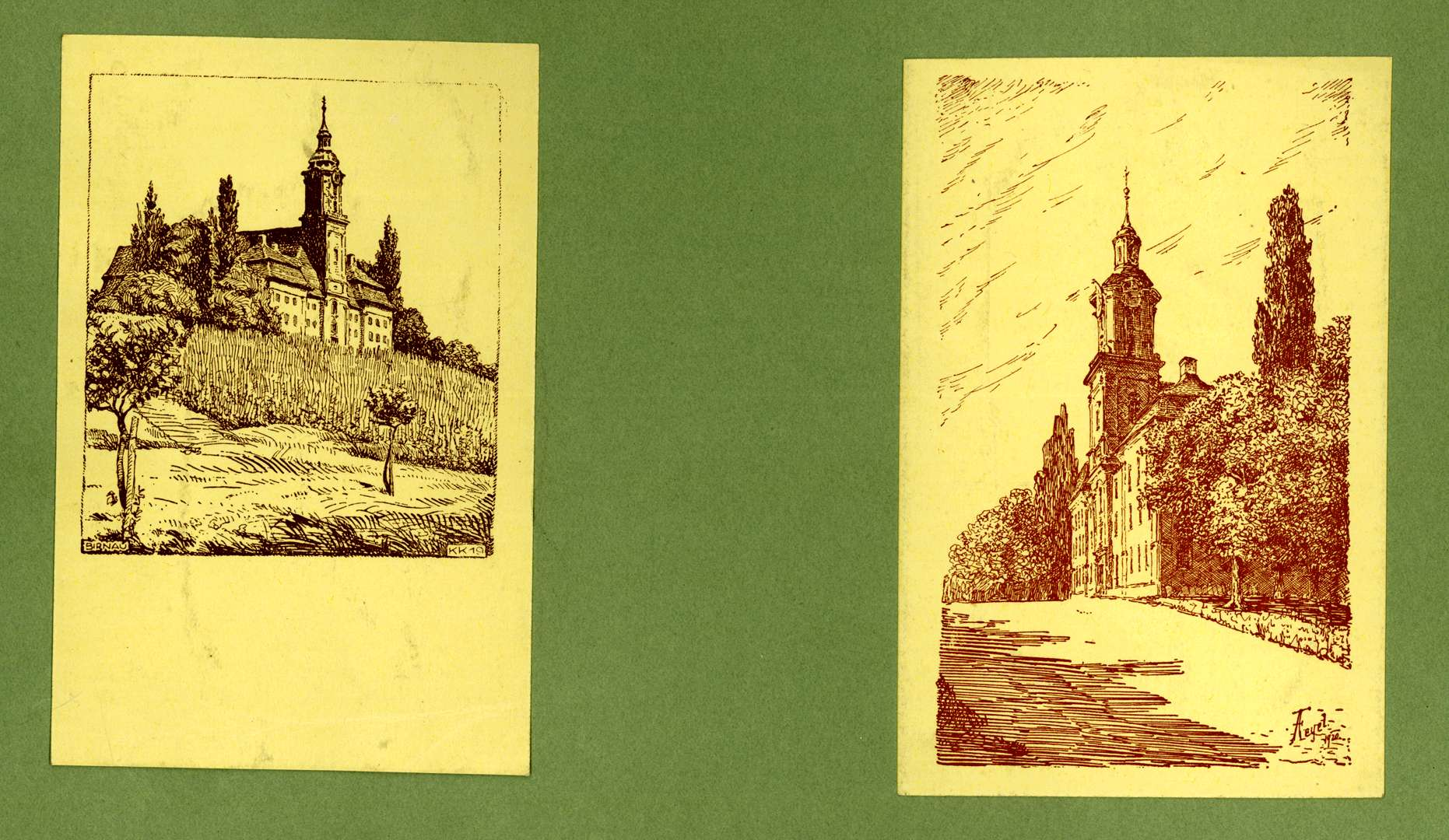 Wallfahrtskirche von zwei Seiten, Bild 1