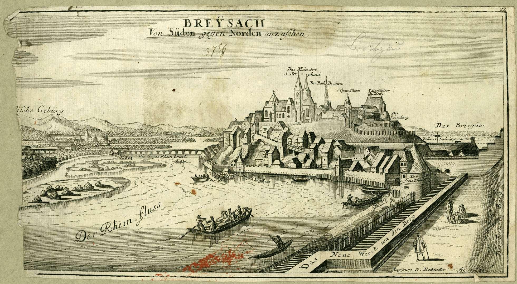 Breysach Von Süden gegen Norden anzusehen, Bild 1