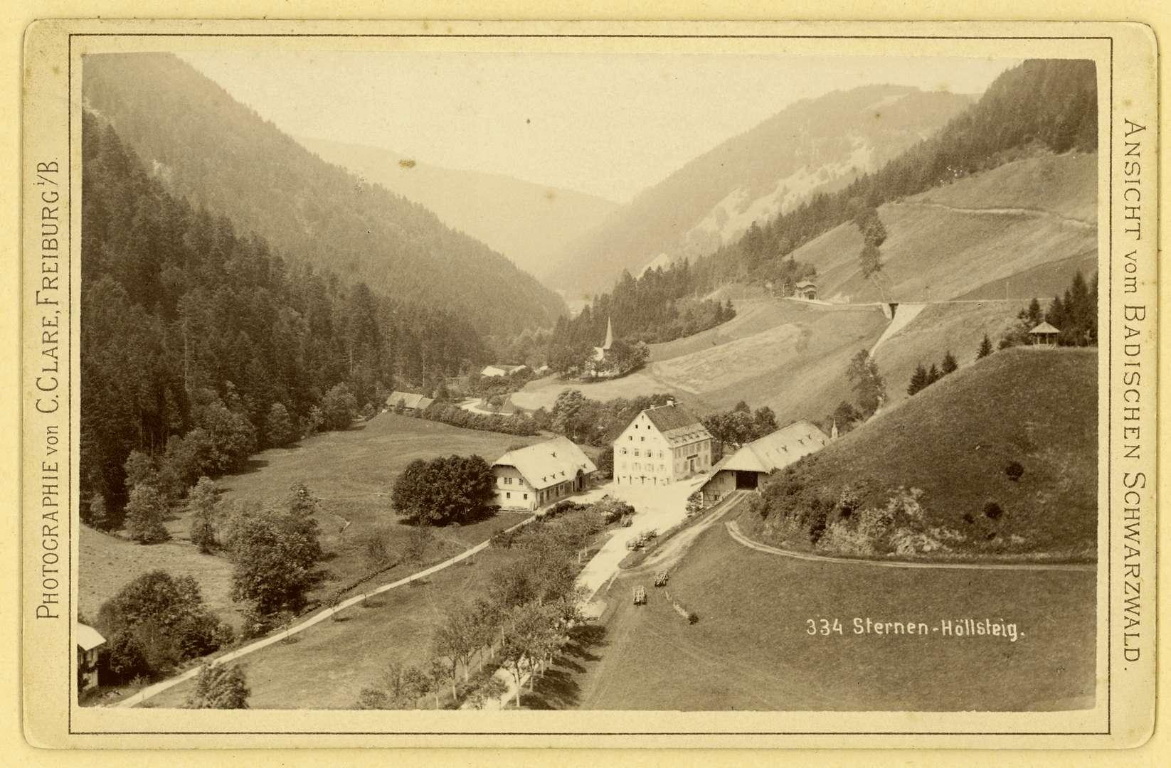 Sternen-Höllsteig Ansicht vom badischen Schwarzwald Nr. 334, Bild 1