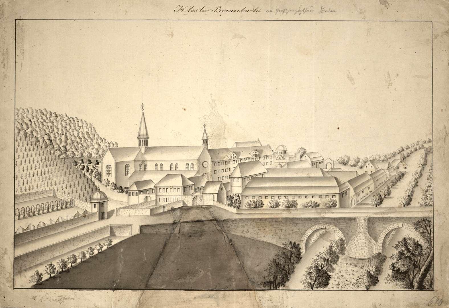 Kloster Bronnbach in Großherzogthum Baden, Bild 1