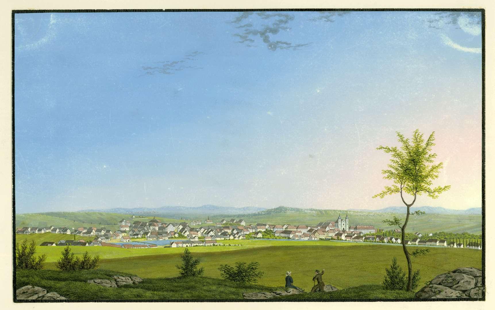 Die Stadt von Westen, Bild 1